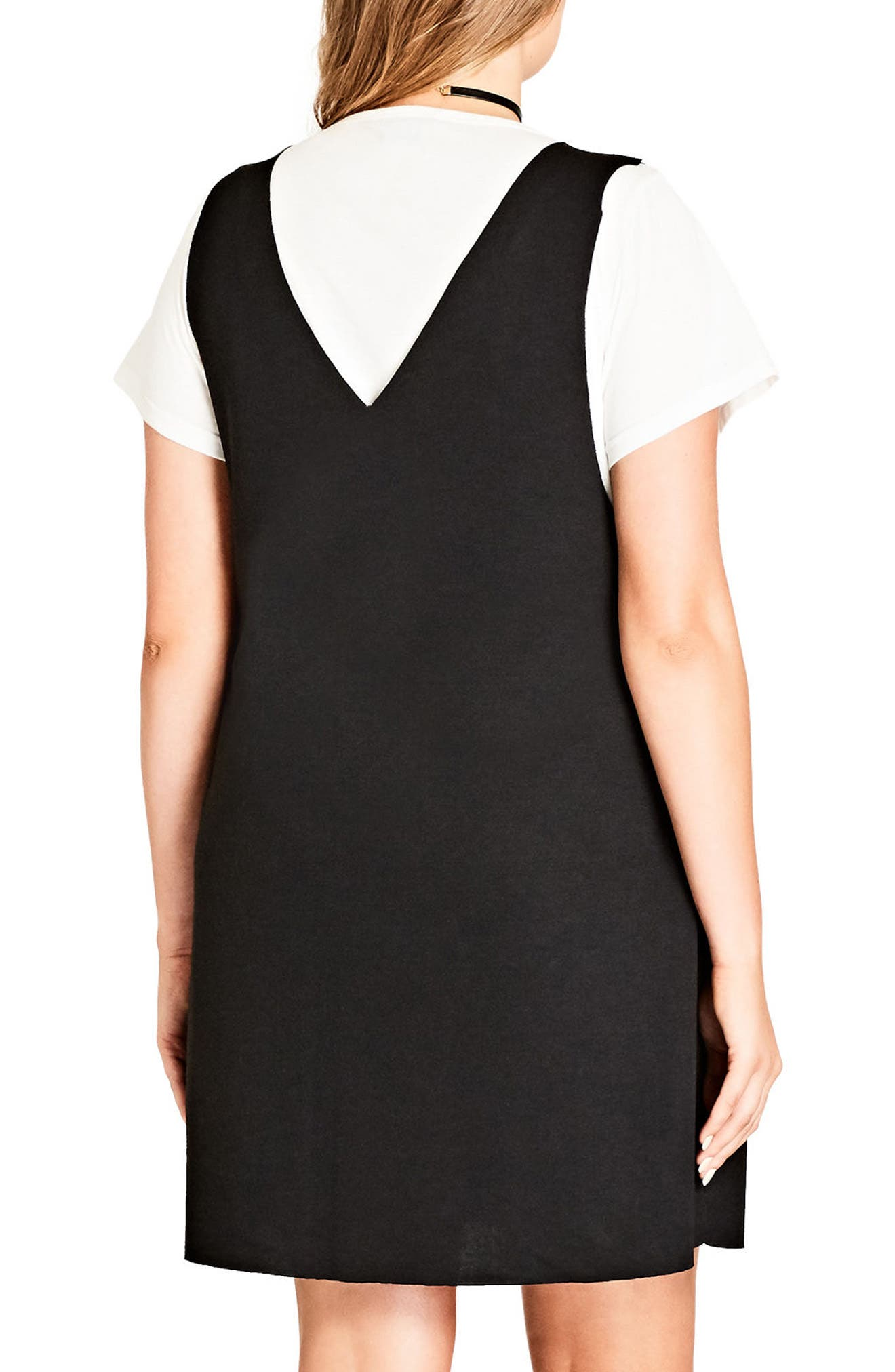 Alternate Image 2  - City Chic Grunge Girl Dress (Plus Size)
