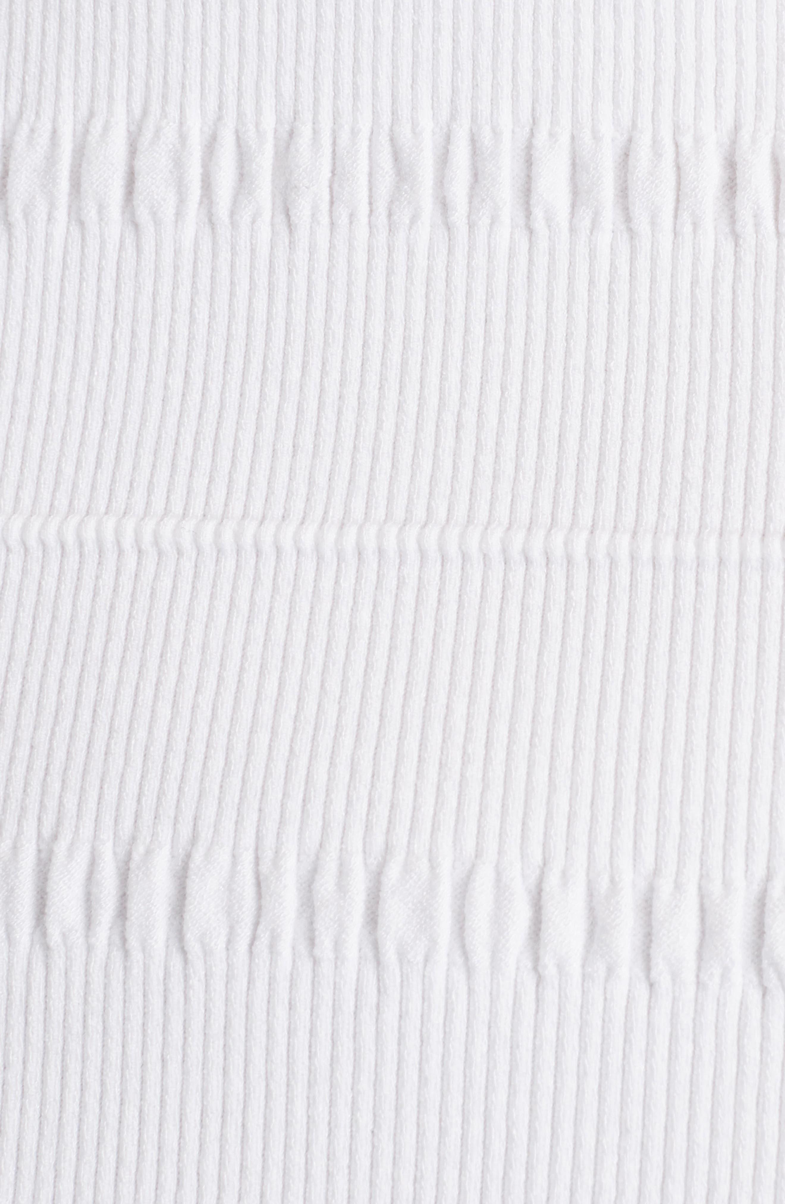 Knit Ruffle Hem Dress,                             Alternate thumbnail 6, color,                             White