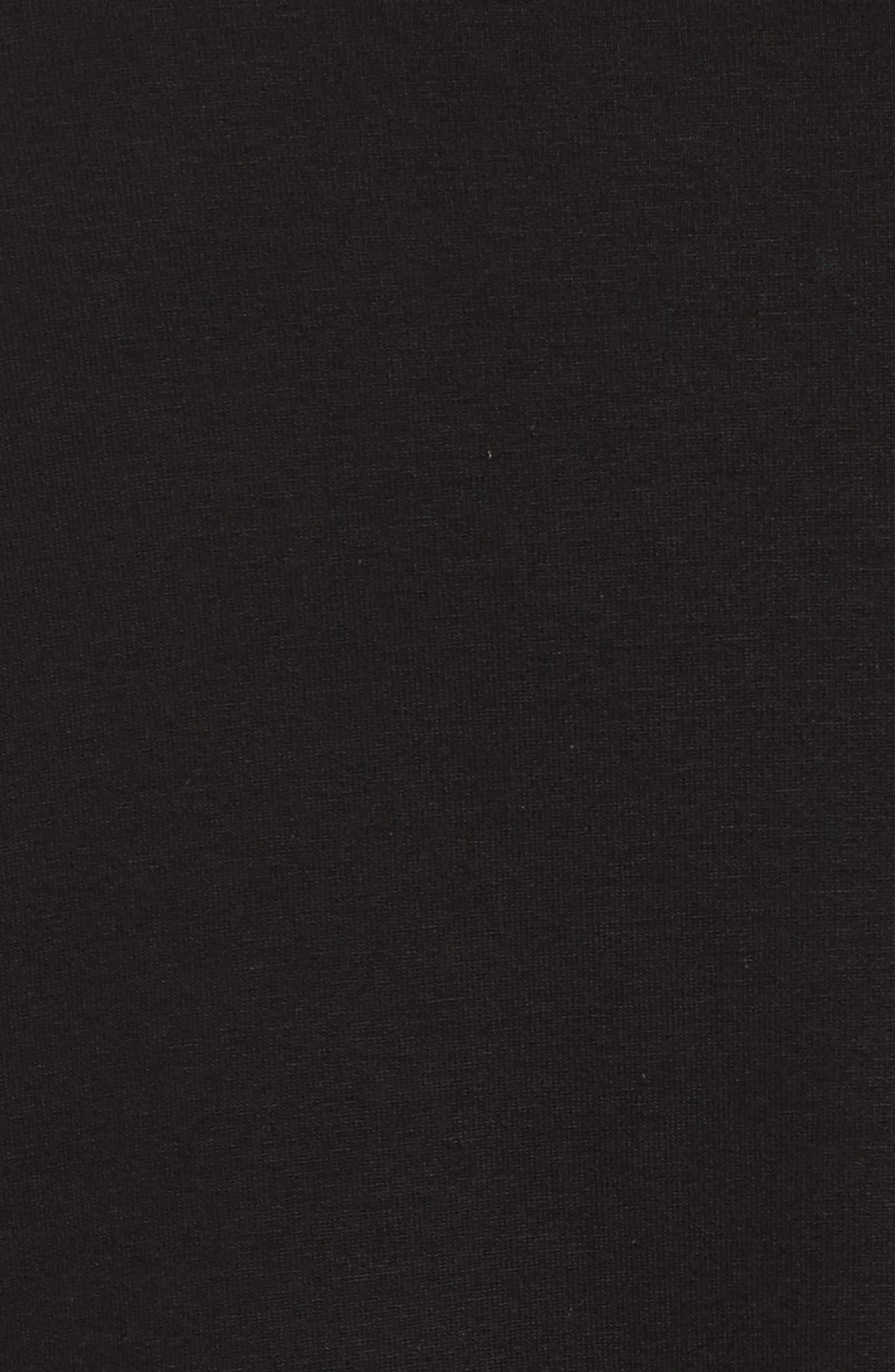 Drape Neck Jersey Top,                             Alternate thumbnail 5, color,                             Black