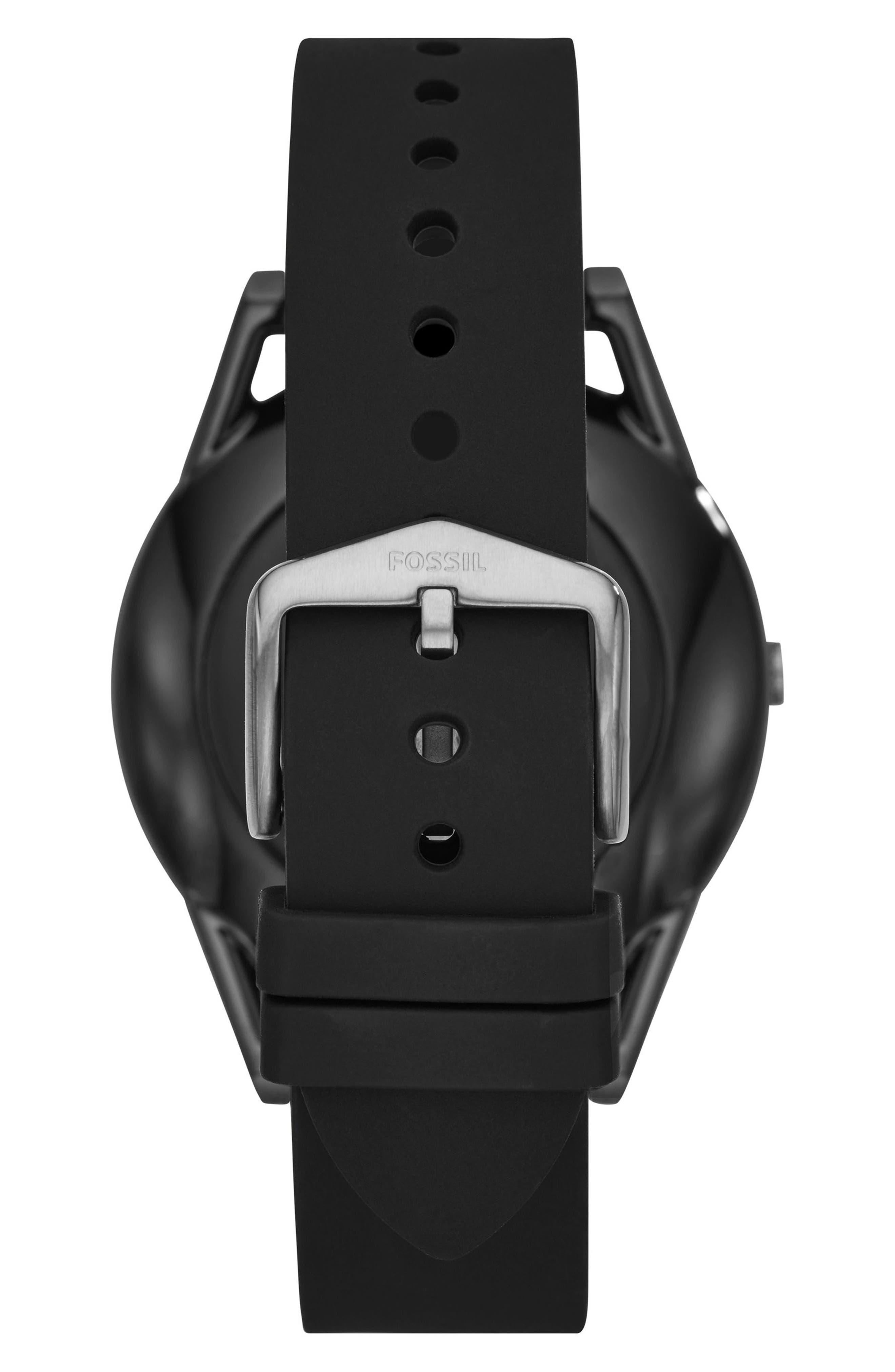 Alternate Image 2  - Fossil Q Control Gen 3 Silicone Strap Smart Watch, 45mm