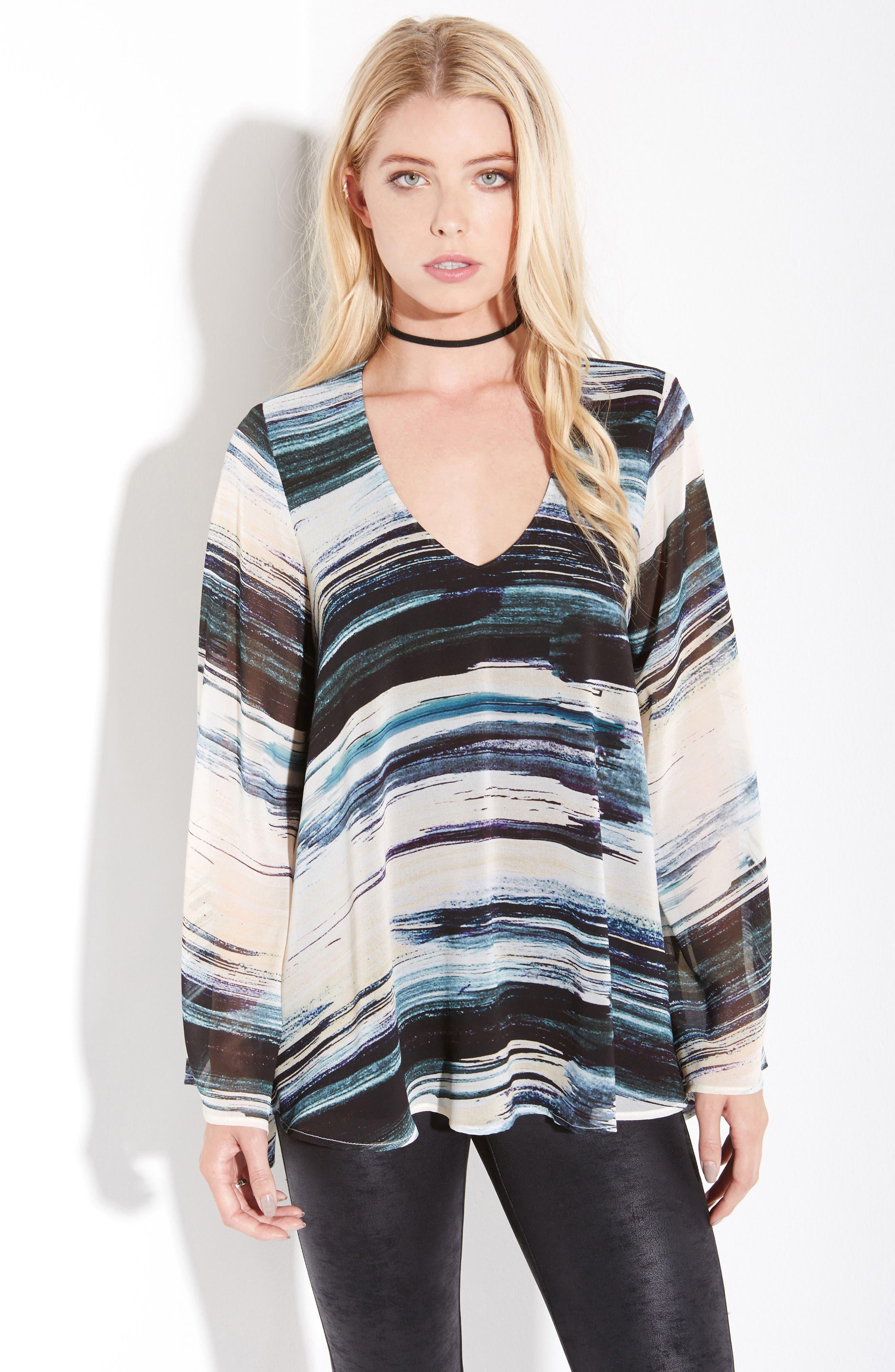 Alternate Image 2  - Karen Kane V-Neck Bell Sleeve Top