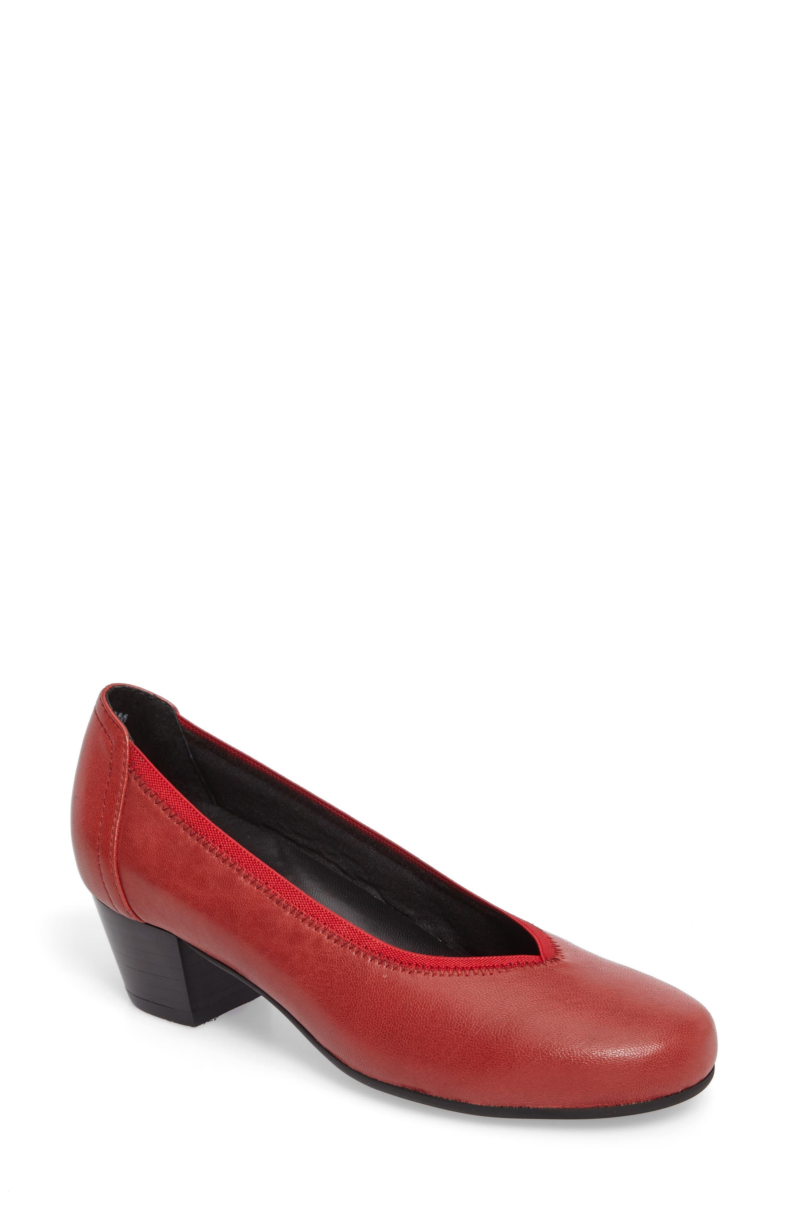 Madera Pump,                             Main thumbnail 1, color,                             Red Leather