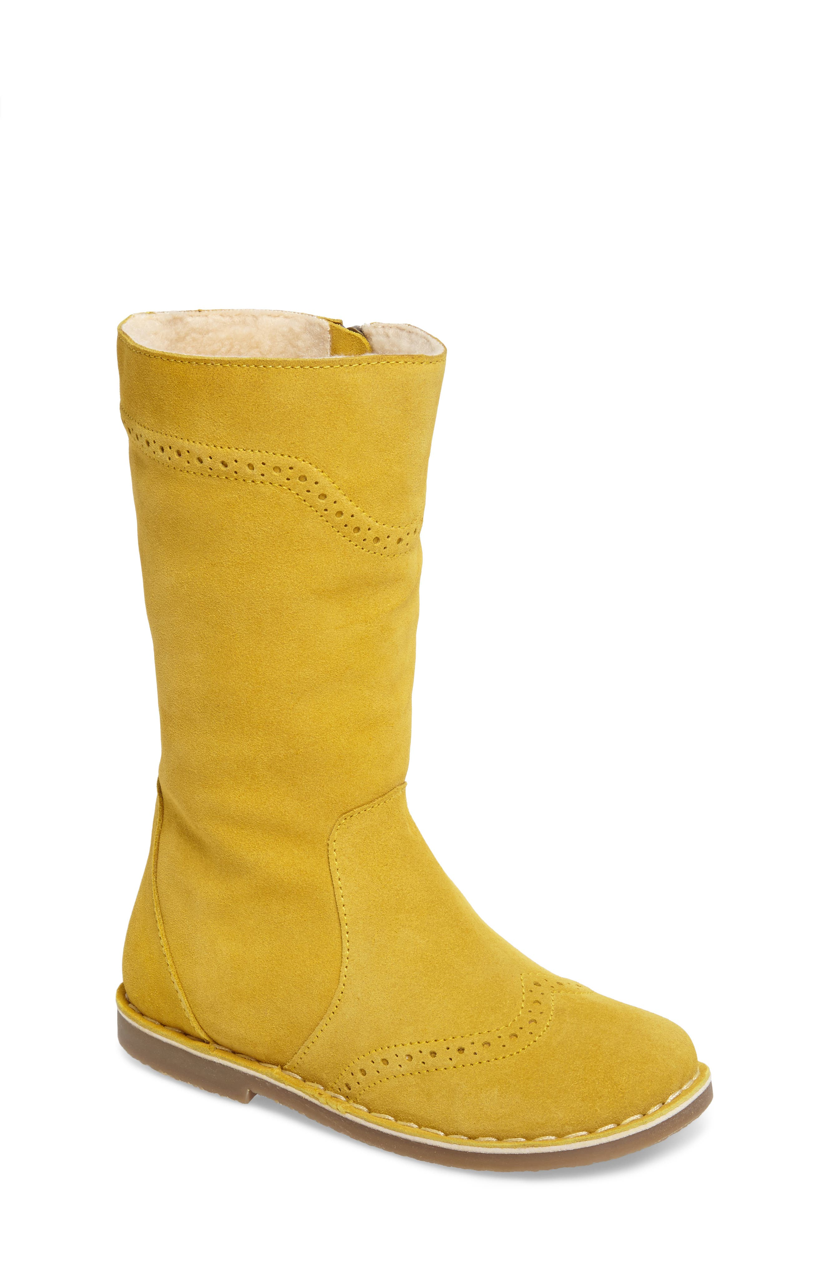 Alternate Image 1 Selected - Mini Boden Tall Leather Boot (Toddler, Little Kid & Big Kid)