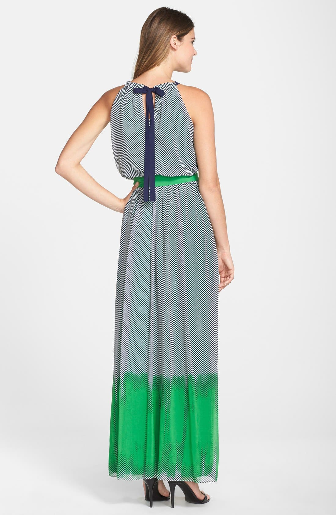 Alternate Image 2  - Vince Camuto Print Crepe Maxi Dress