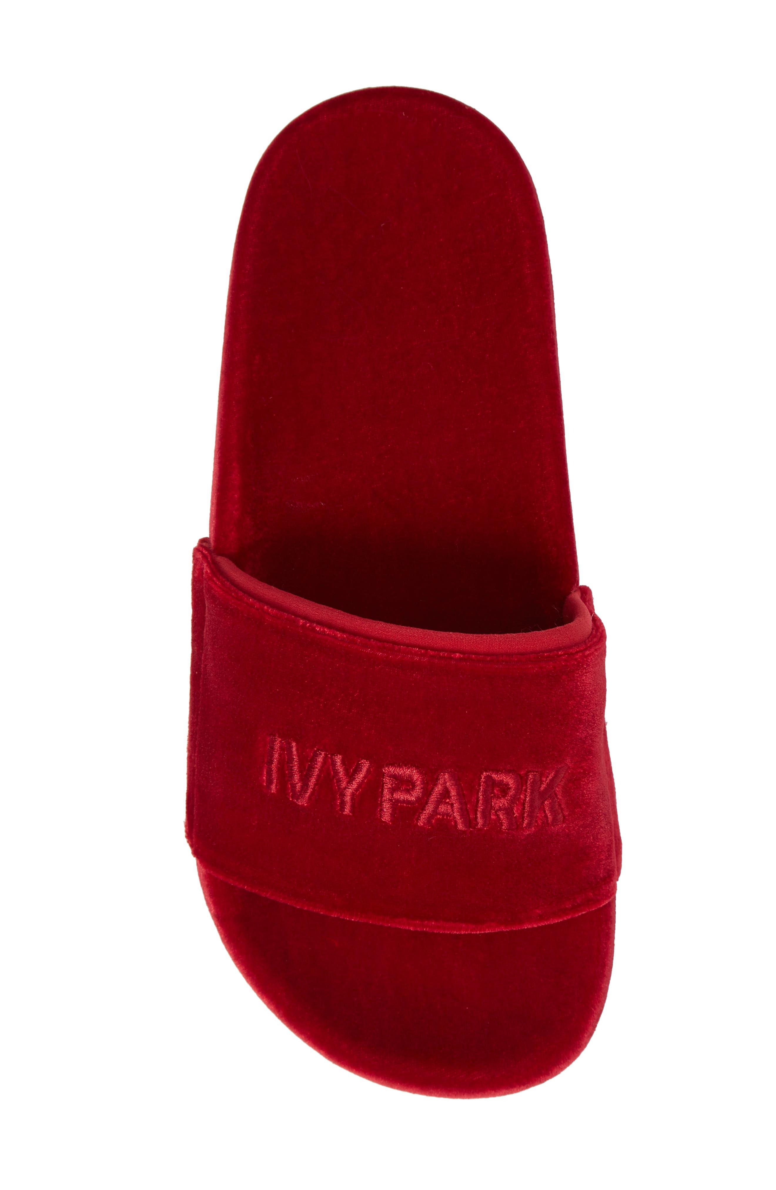 Alternate Image 5  - IVY PARK® Velvet Embossed Slide Sandal (Women)