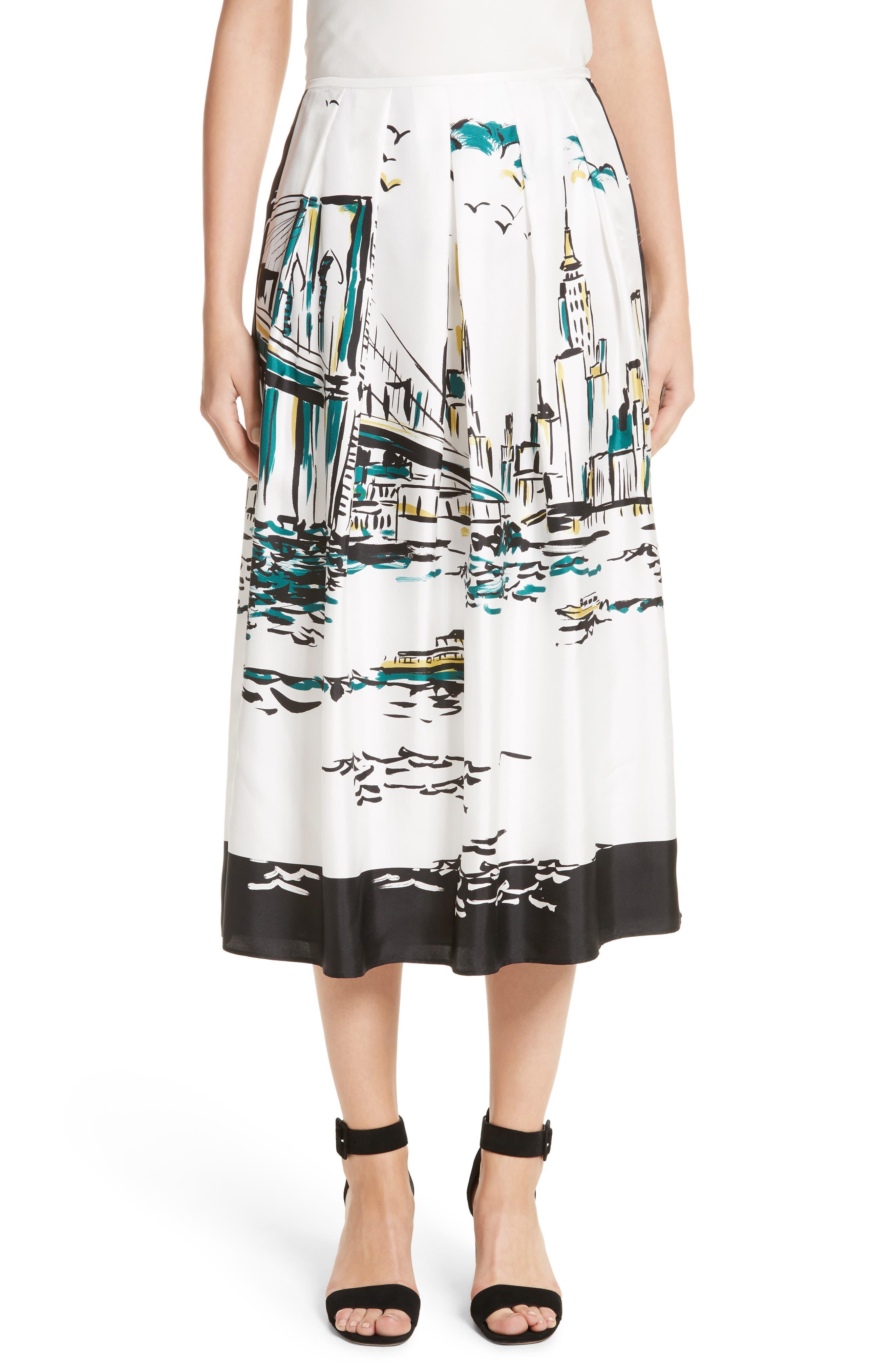 Lafayette 148 New York Sabilla Silk Skirt