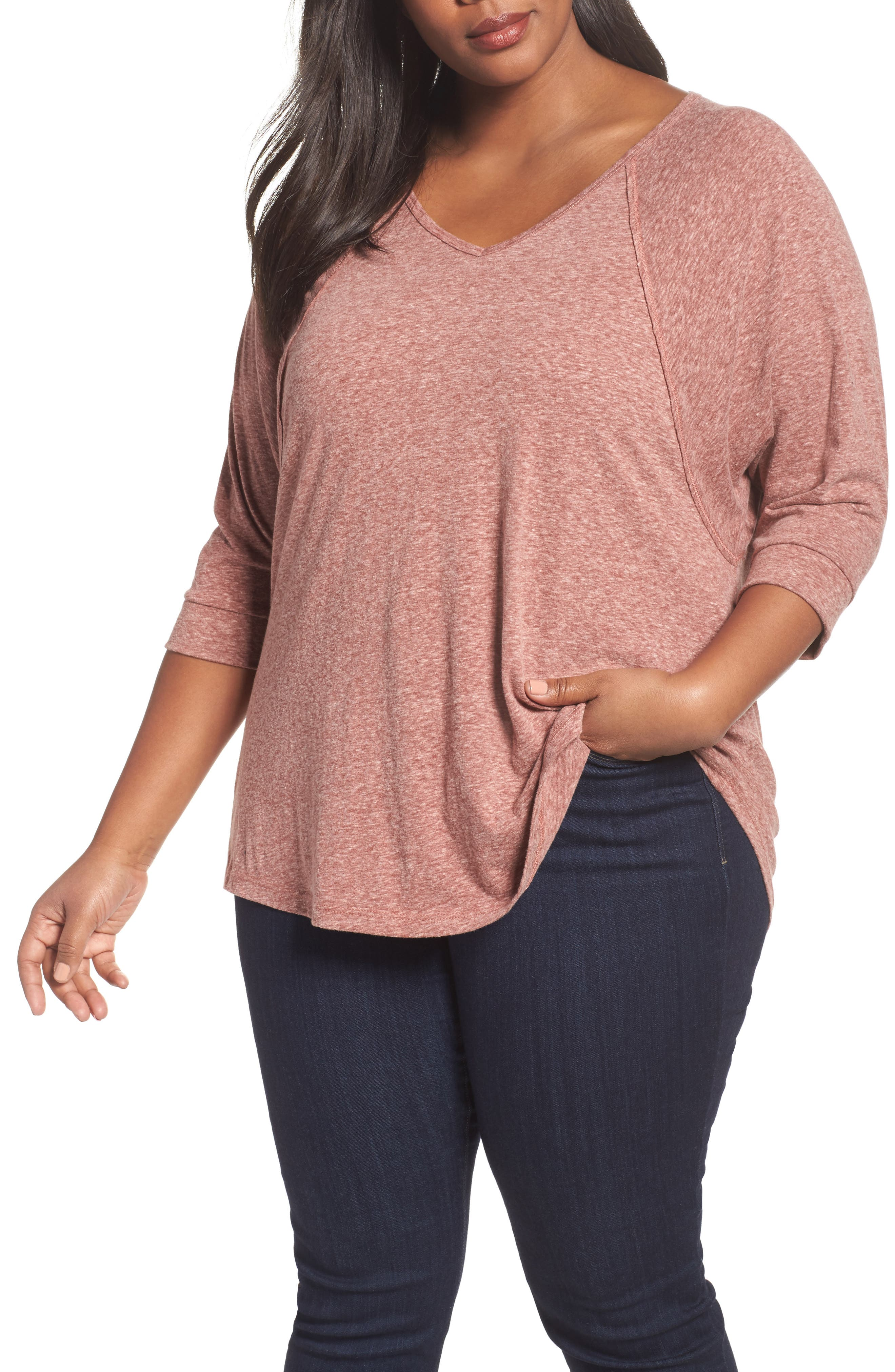 Sejour V-Neck Triblend Tee (Plus Size)