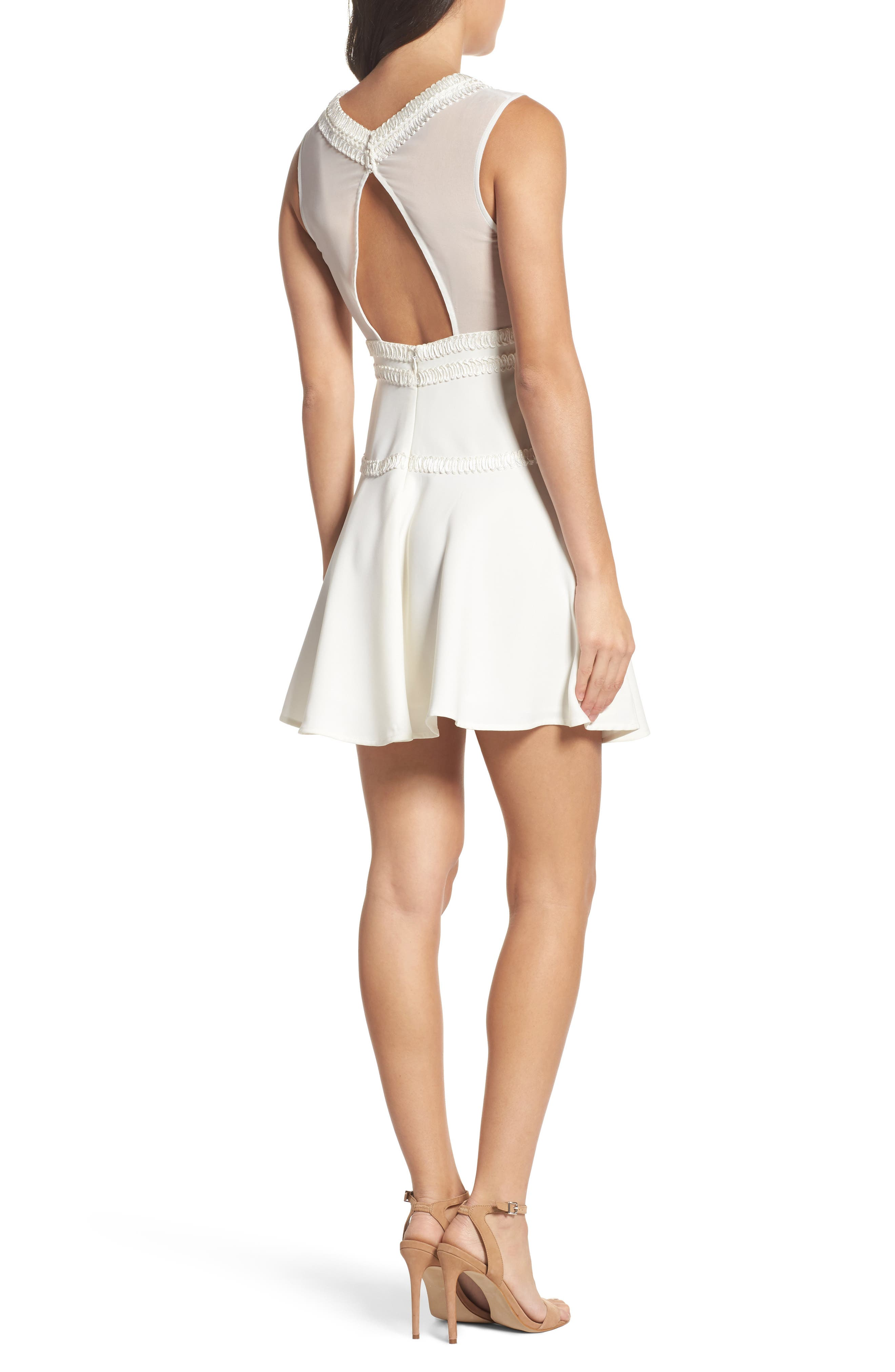 Alternate Image 2  - Foxiedox Aviana Fit & Flare Dress