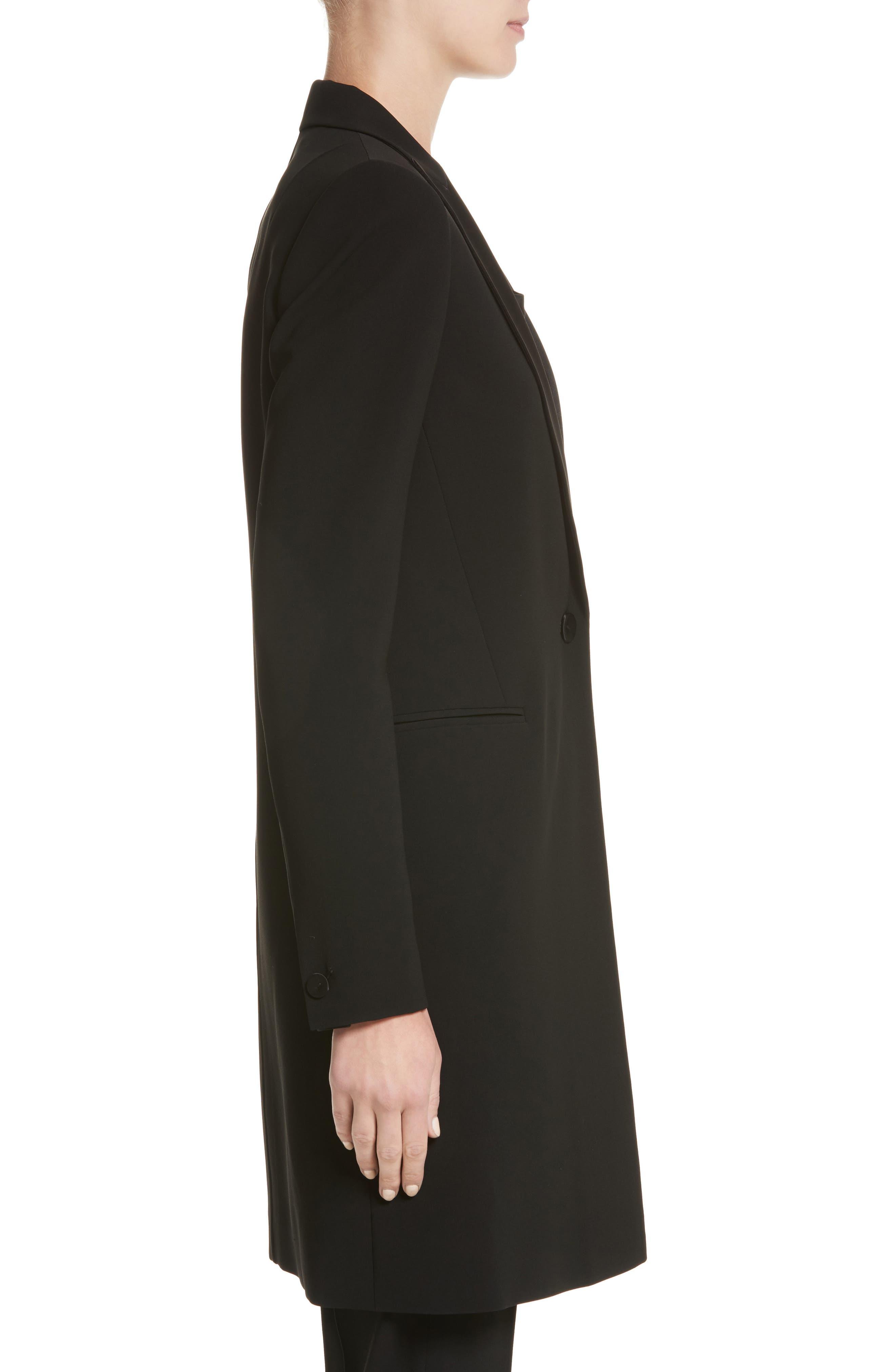 Alternate Image 3  - Lafayette 148 New York Satin Lapel Tuxedo Jacket