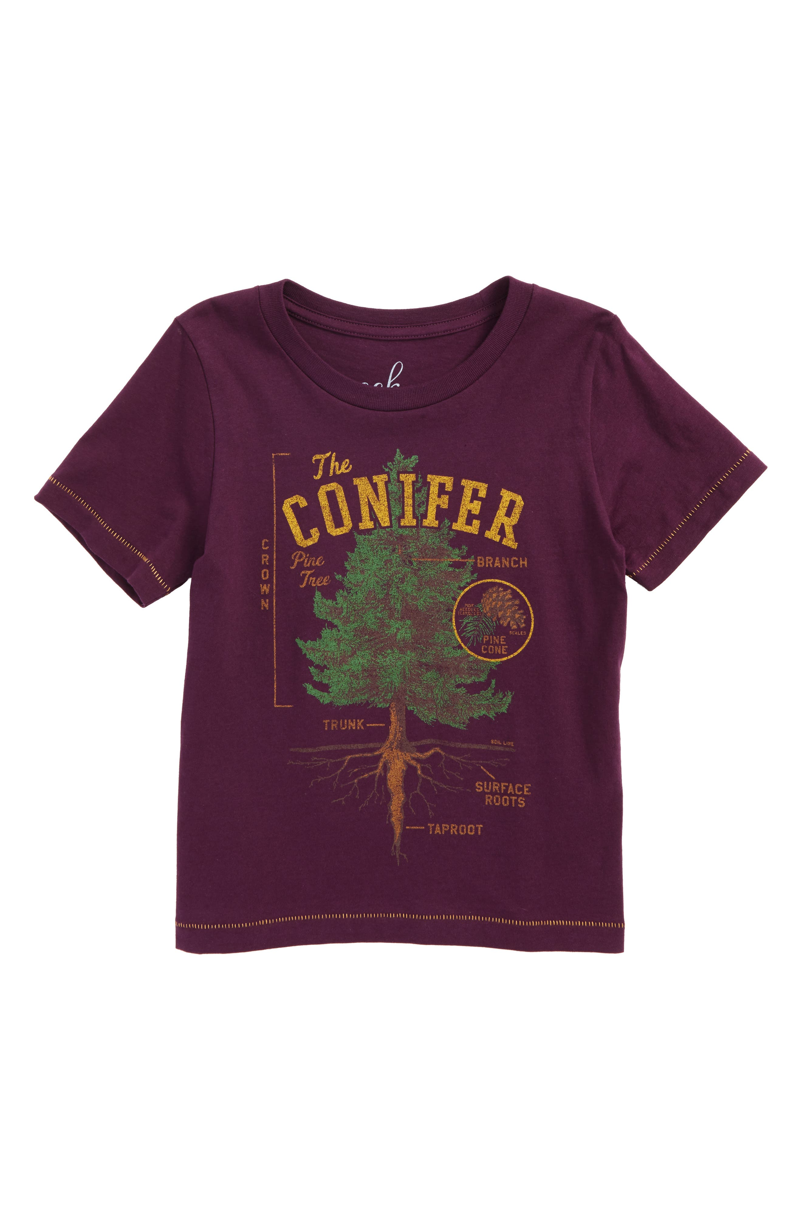 Alternate Image 1 Selected - Peek The Conifer Graphic T-Shirt (Toddler Boys, Little Boys & Big Boys)