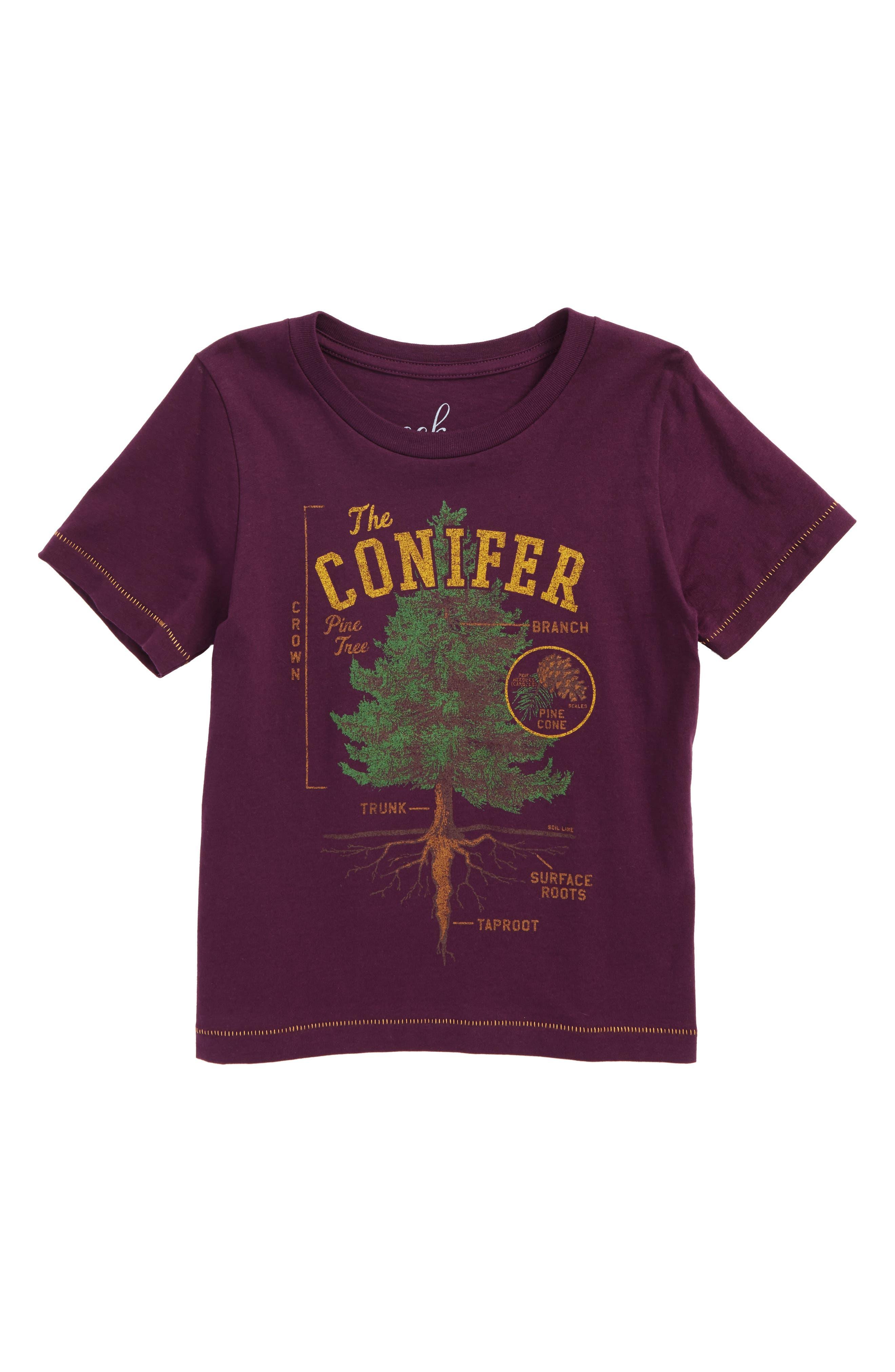 The Conifer Graphic T-Shirt,                             Main thumbnail 1, color,                             Plum