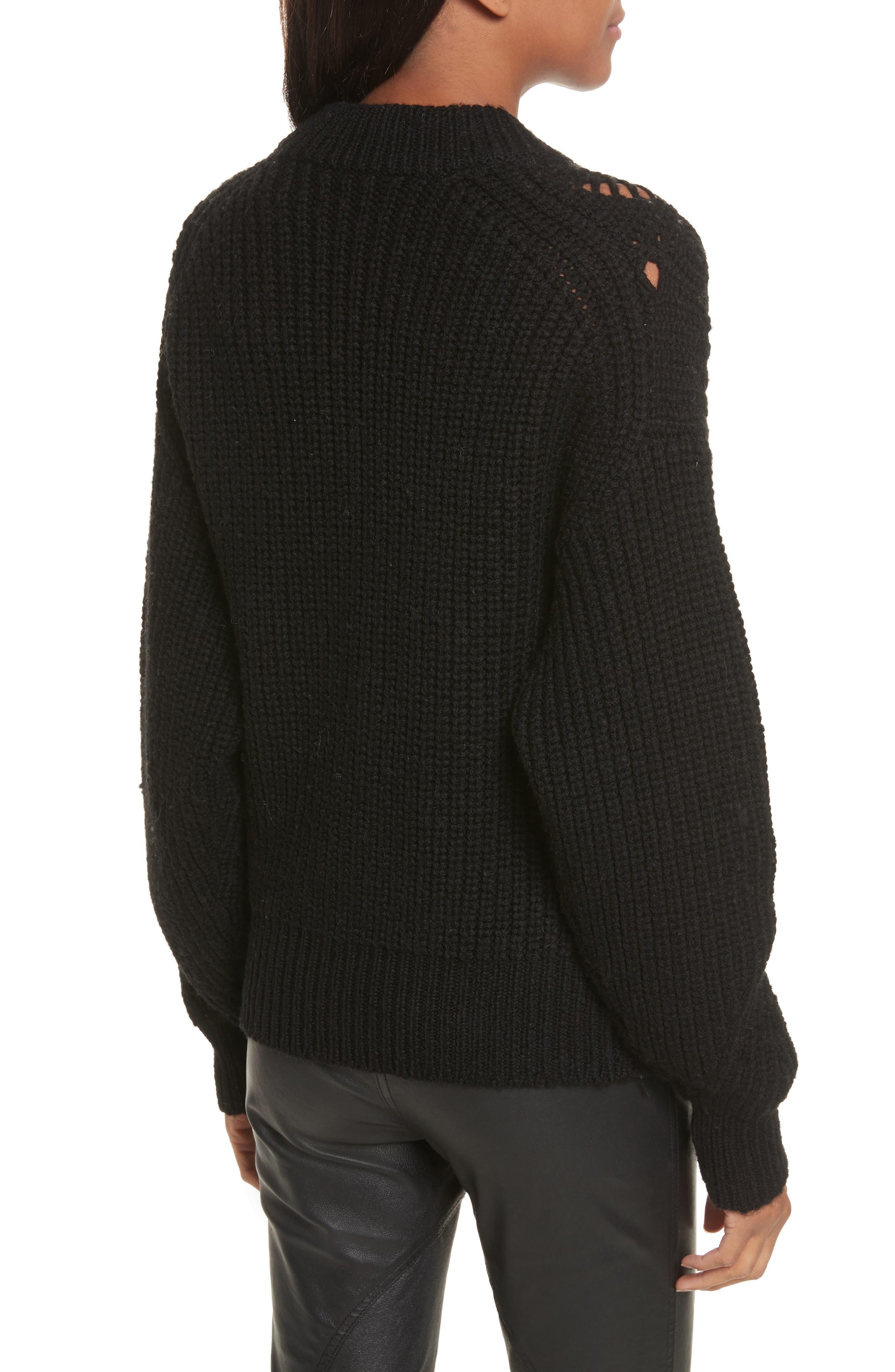 Alternate Image 2  - Rebecca Taylor Embellished Wool Blend Sweater