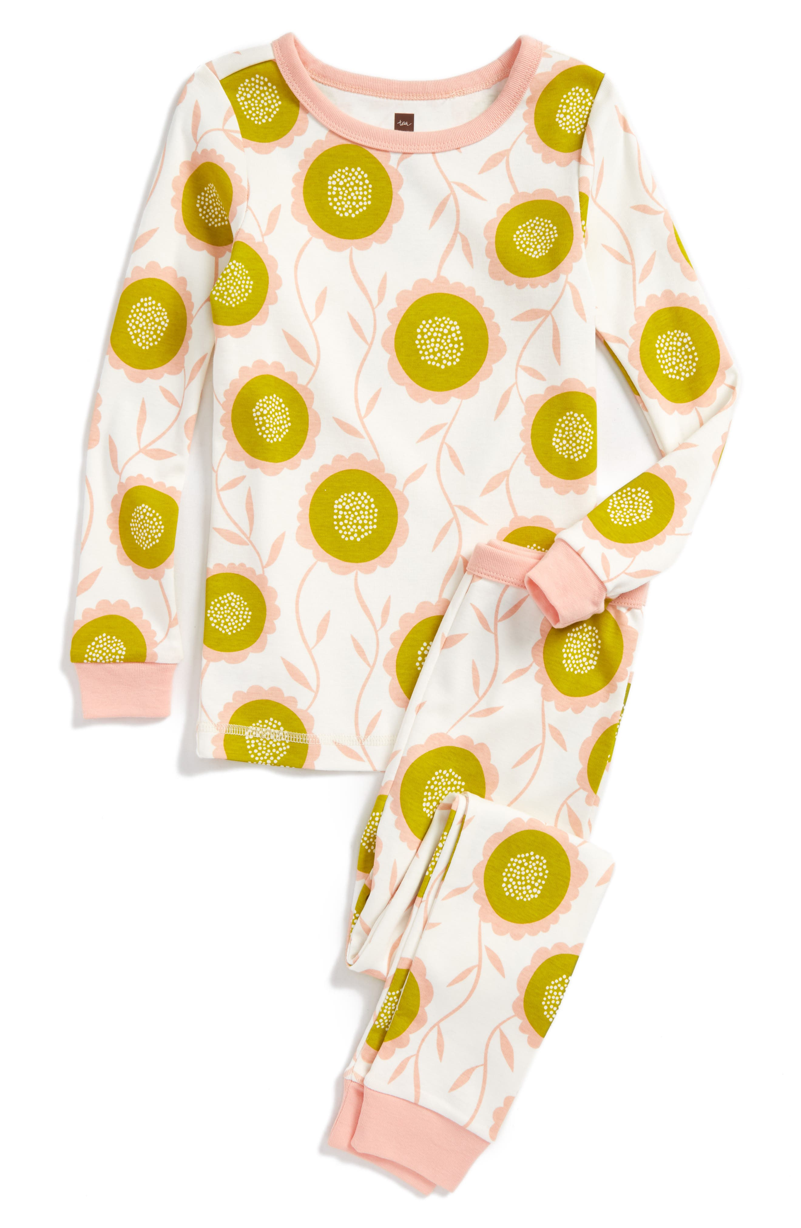 Bruadarach Fitted Two-Piece Pajamas,                         Main,                         color, Chalk