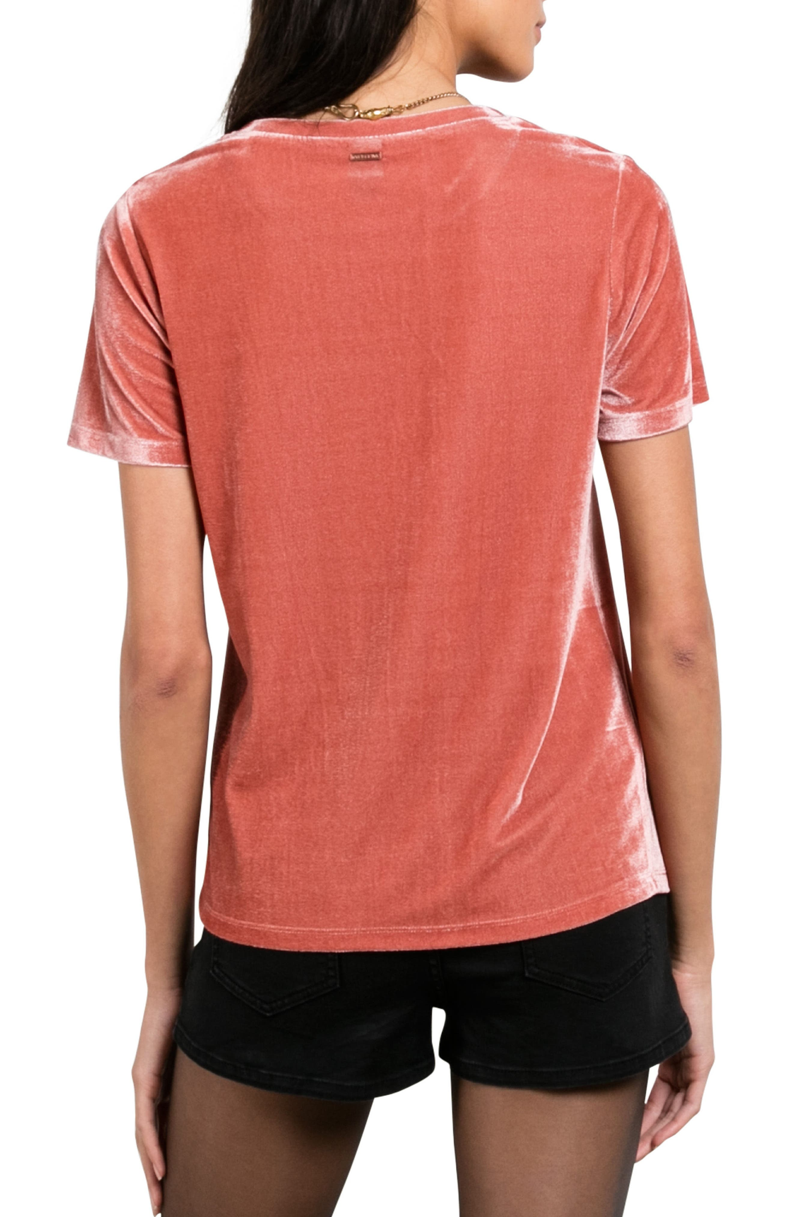 Velour You In Tee,                             Alternate thumbnail 2, color,                             Mauve