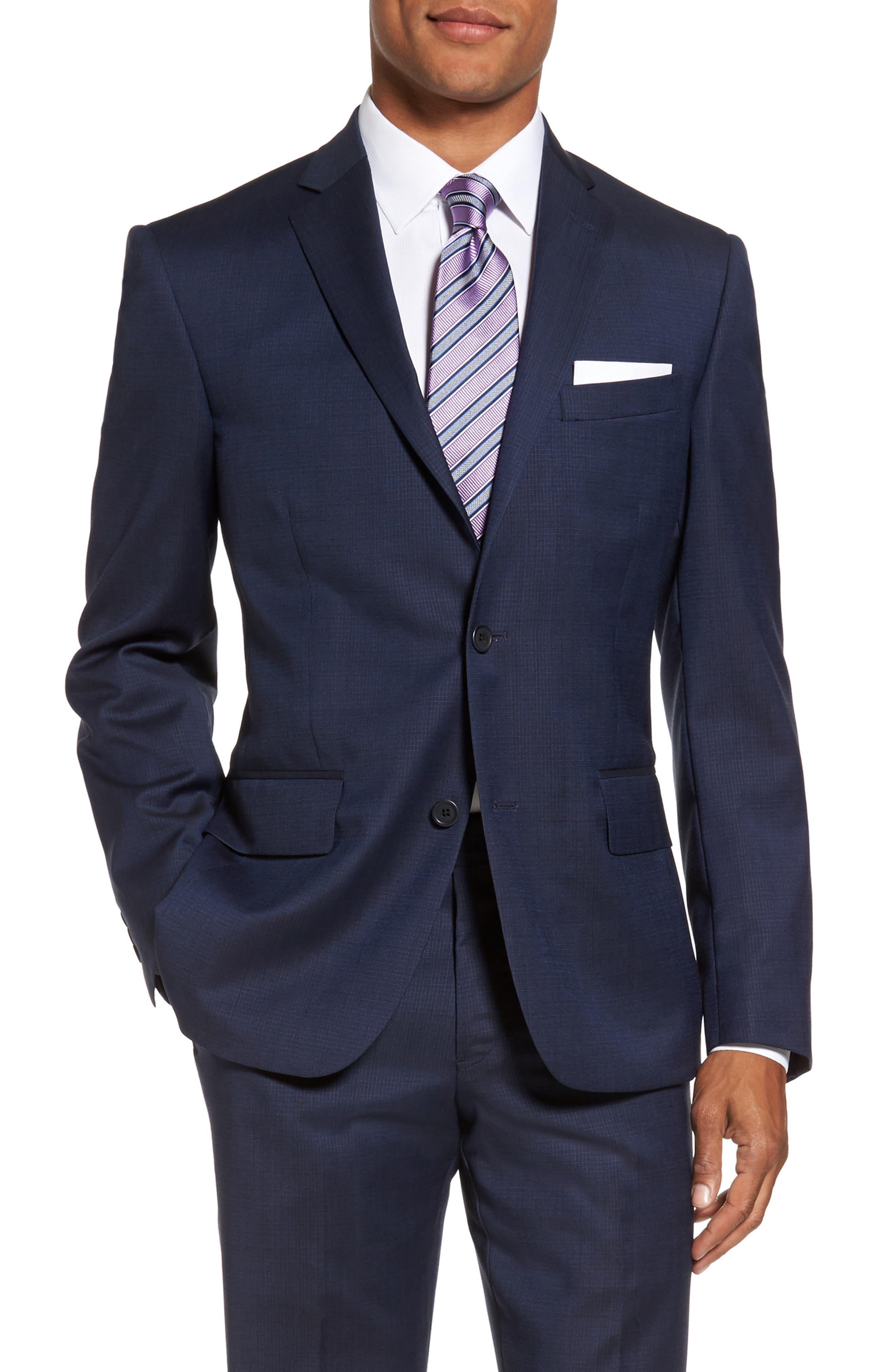 Nordstrom Men's Shop Classic Fit Check Wool Sport Coat