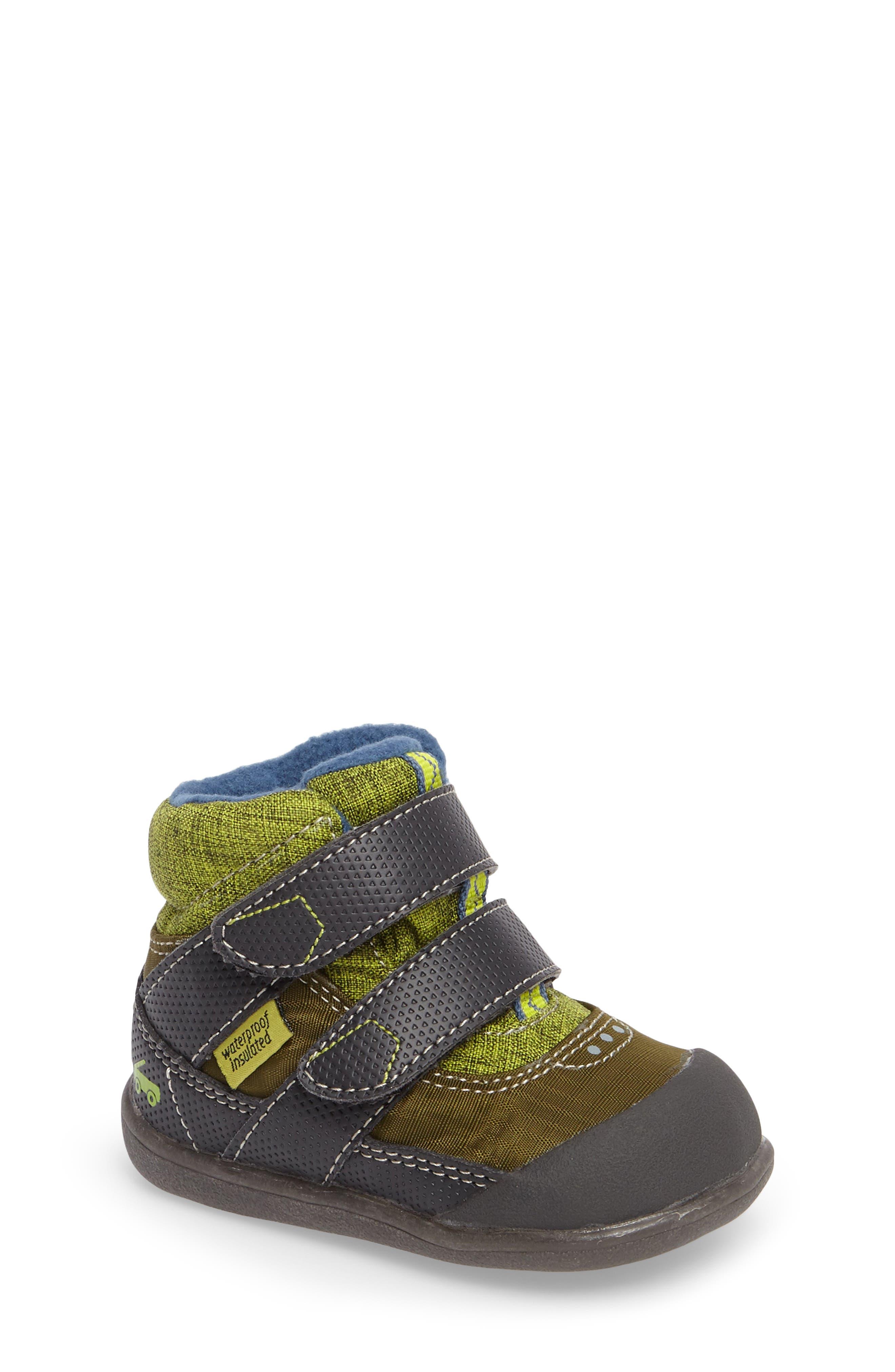 Atlas Waterproof Boot,                         Main,                         color, Green