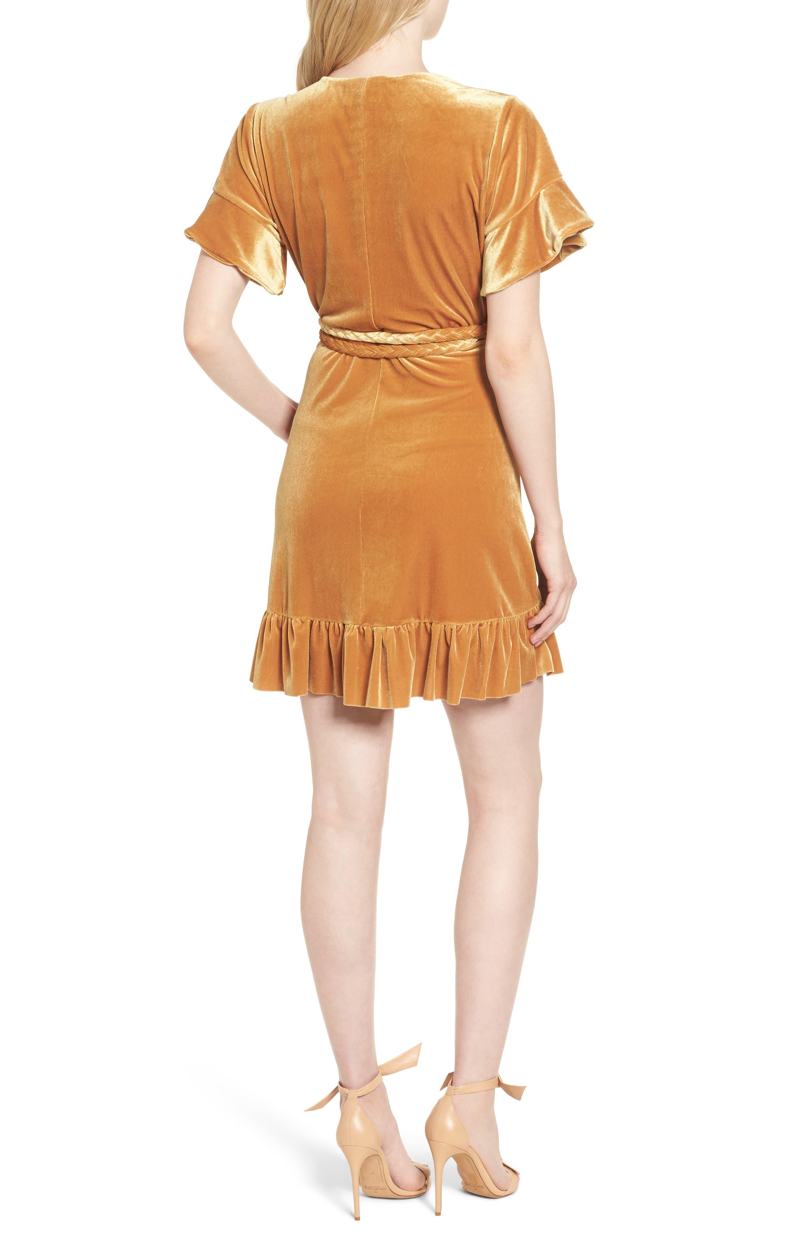 Alternate Image 2  - MISA Los Angeles Desma Velvet Wrap Minidress