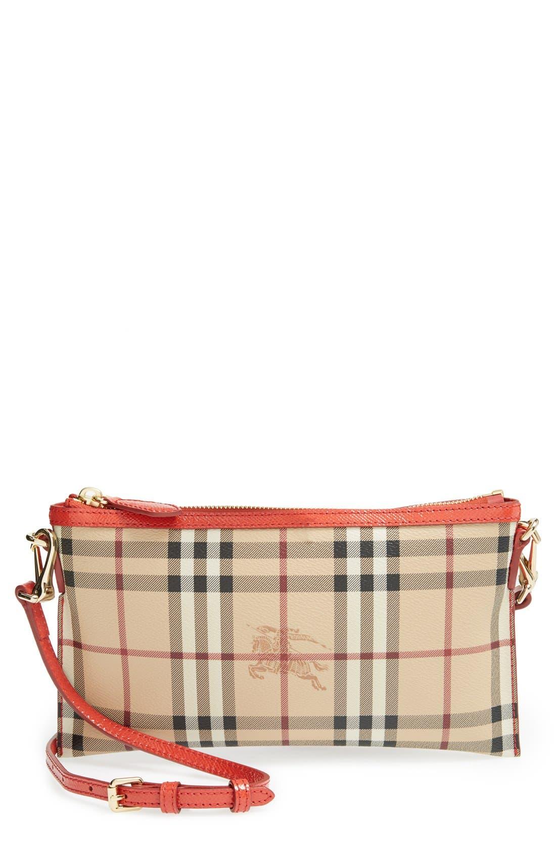 Alternate Image 1 Selected - Burberry 'Peyton - Haymarket Check' Crossbody Bag