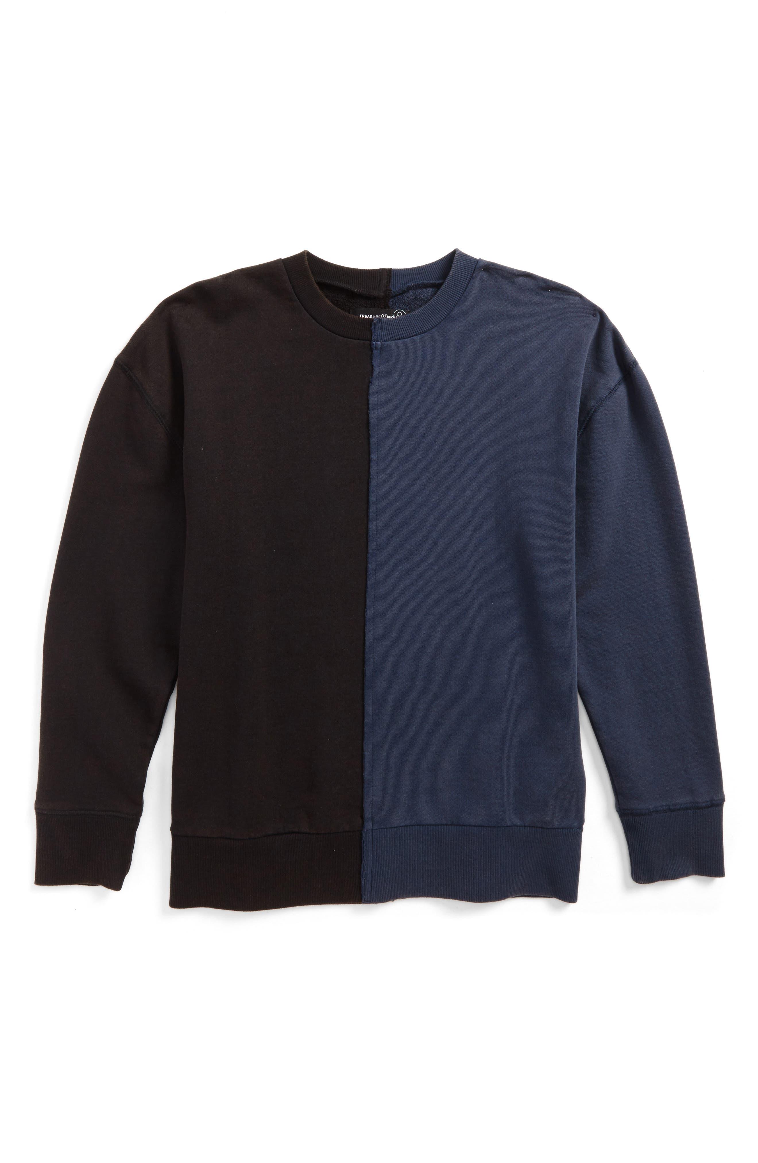Alternate Image 1 Selected - Treasure & Bond Color Splice Sweatshirt (Big Boys)