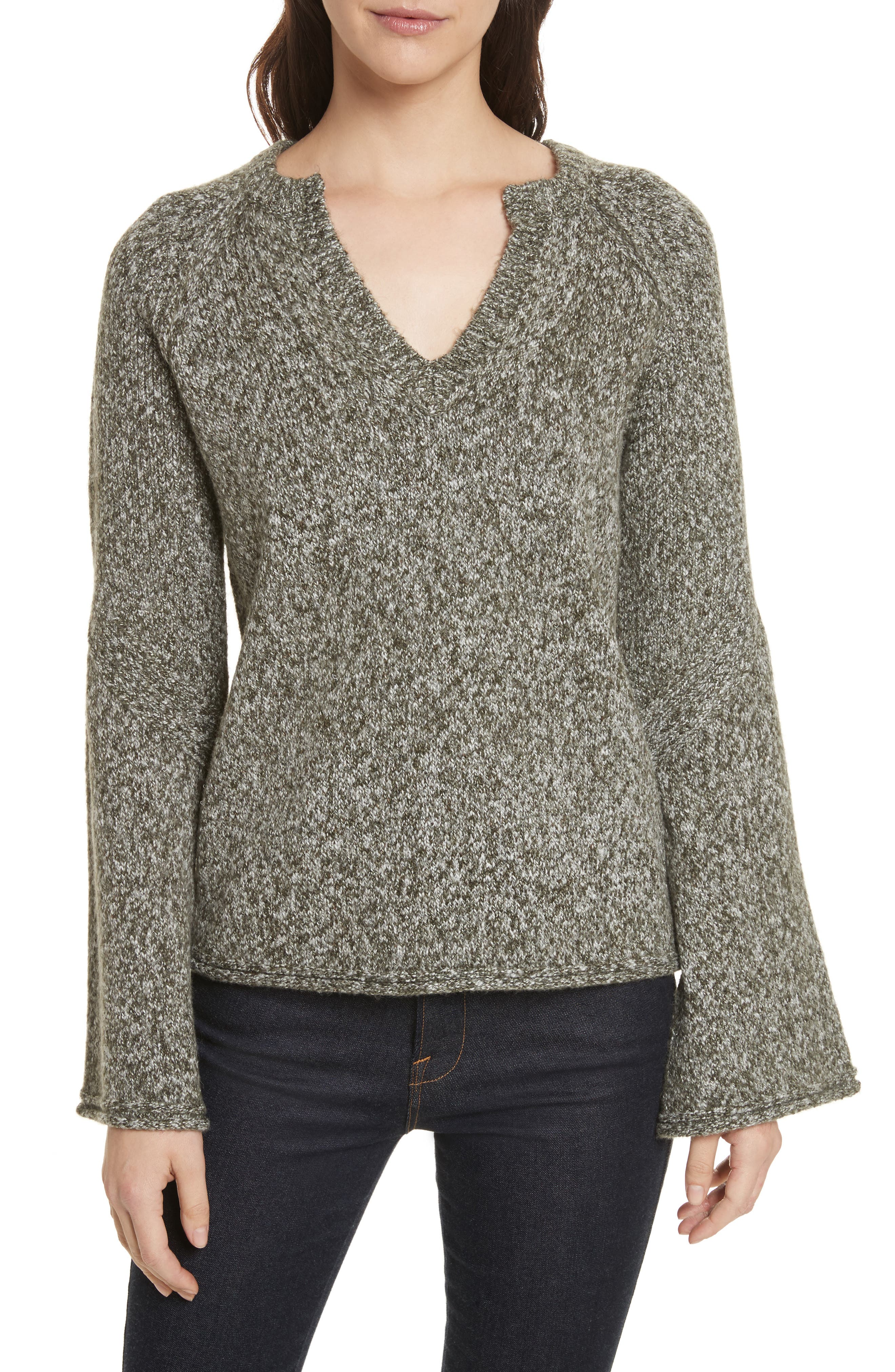Griffyn Sweater,                             Main thumbnail 1, color,                             Military Olive Multi