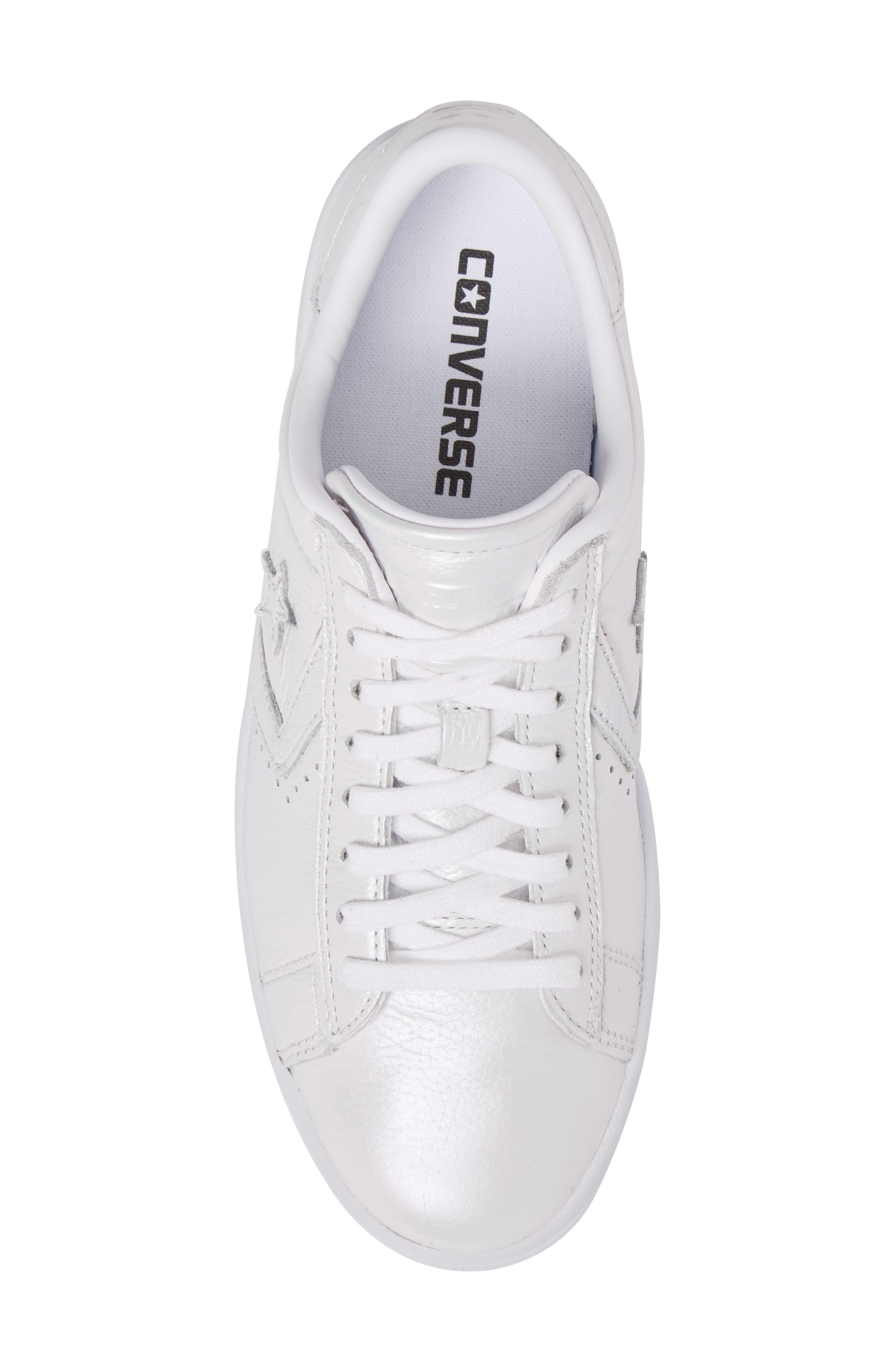 Pro Leather LP Sneaker,                             Alternate thumbnail 5, color,                             White Leather
