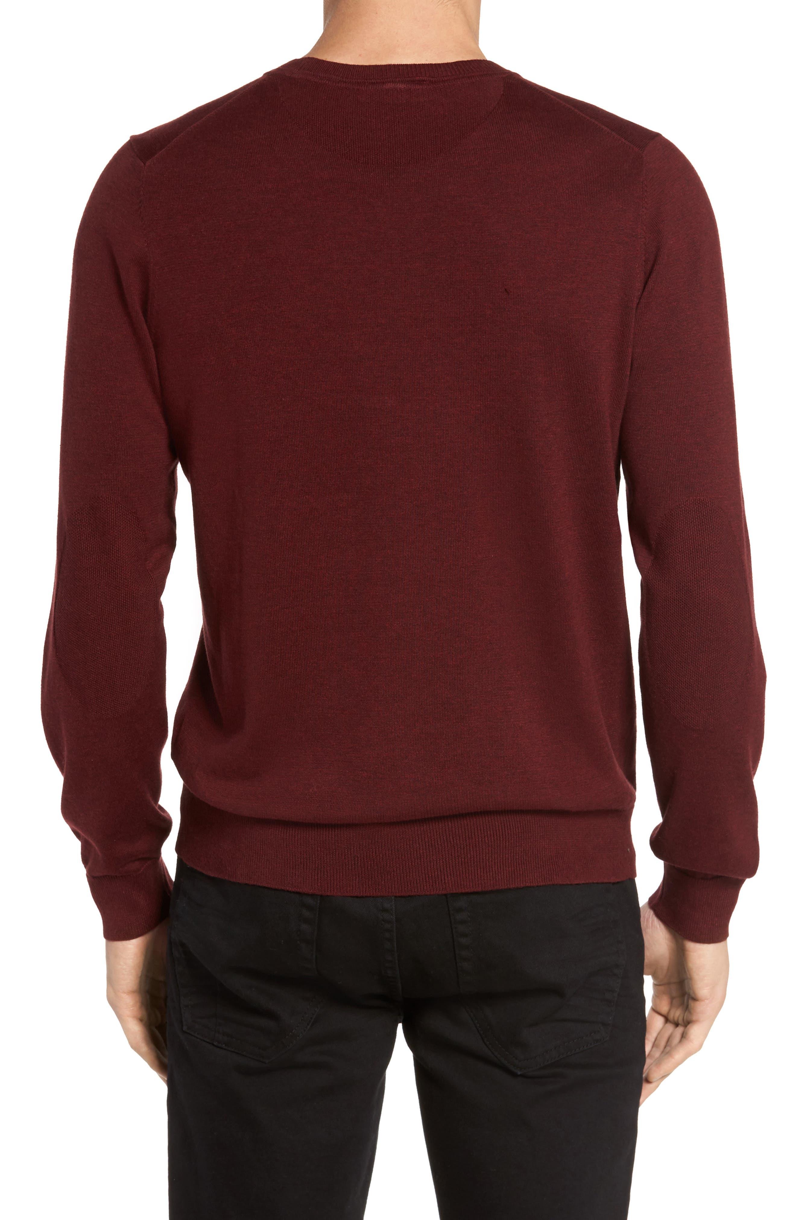 Alternate Image 2  - Lacoste Jersey Knit Crewneck Sweater