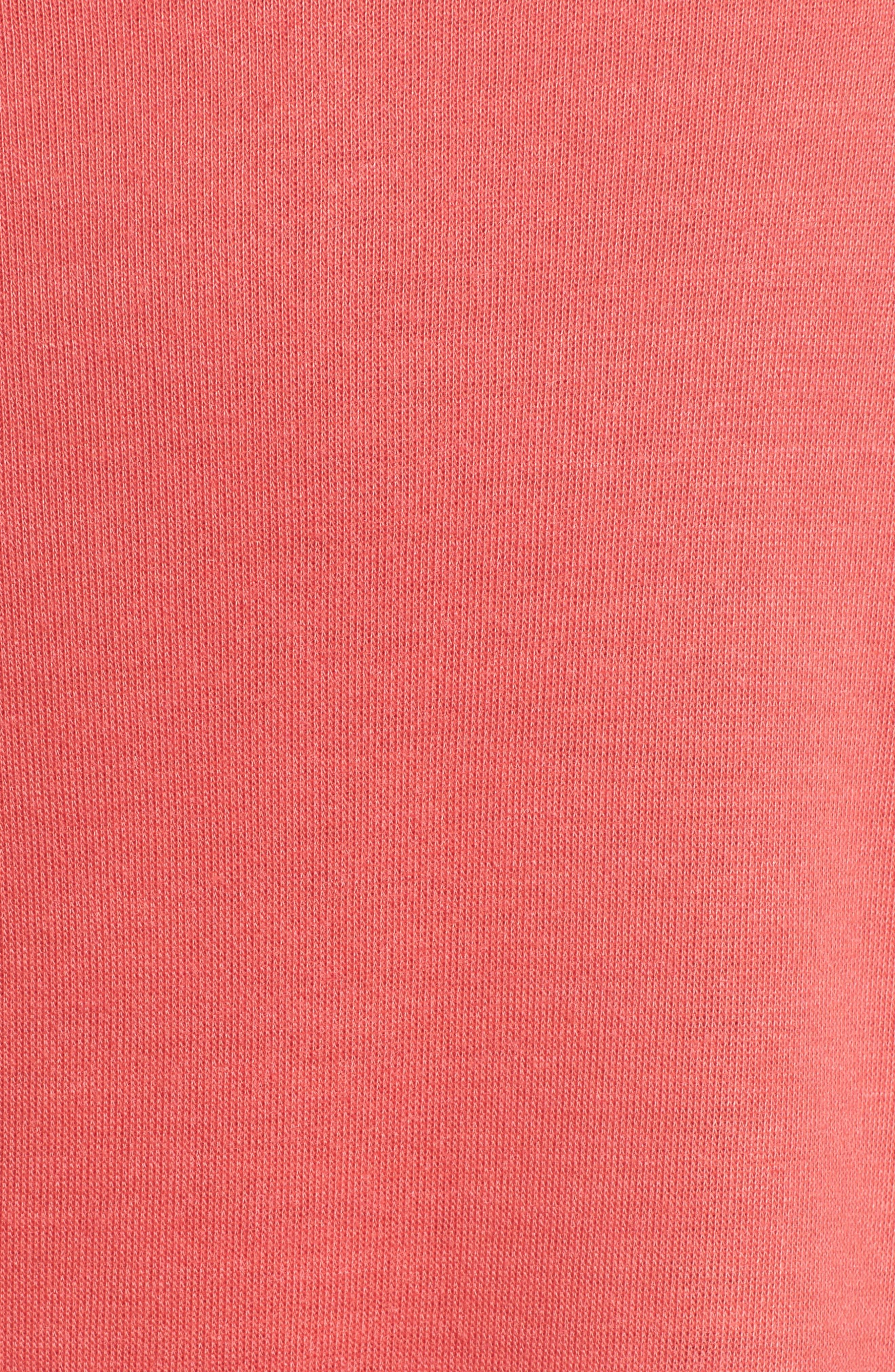 Bateau Neck Knit Tunic,                             Alternate thumbnail 5, color,                             Coral Sea