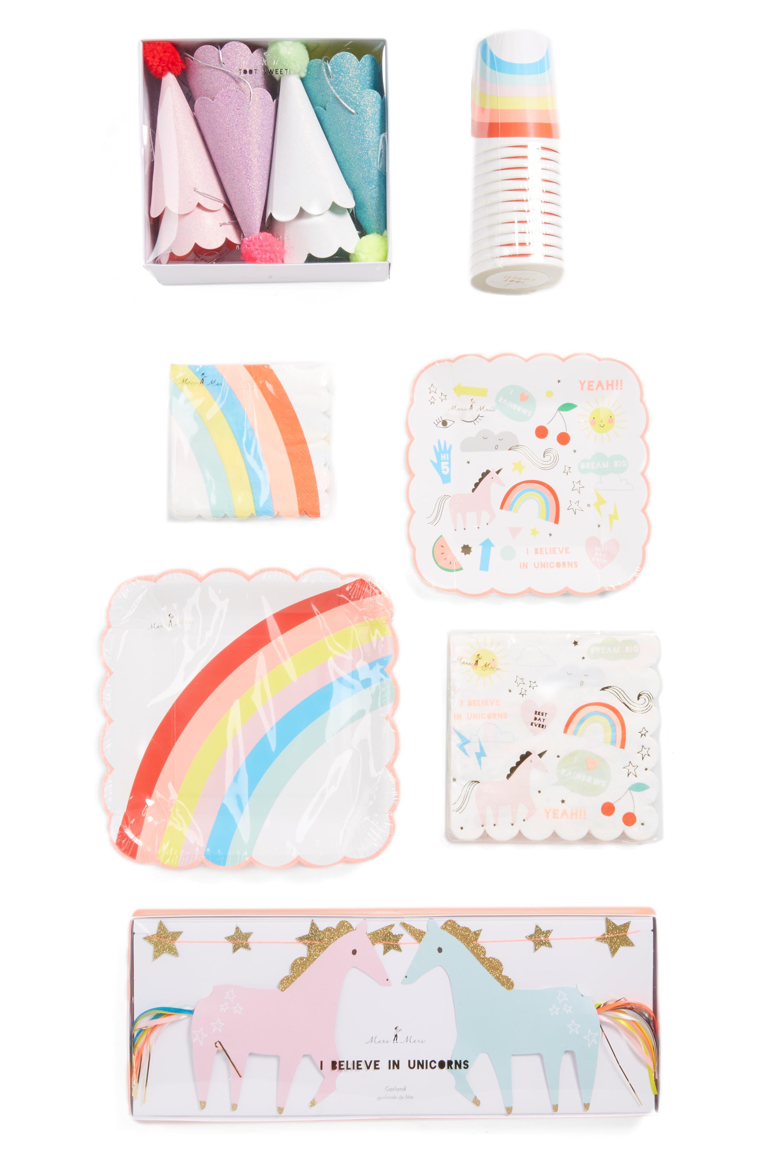 Unicorn Party Bundle Kit,                         Main,                         color, White Multi