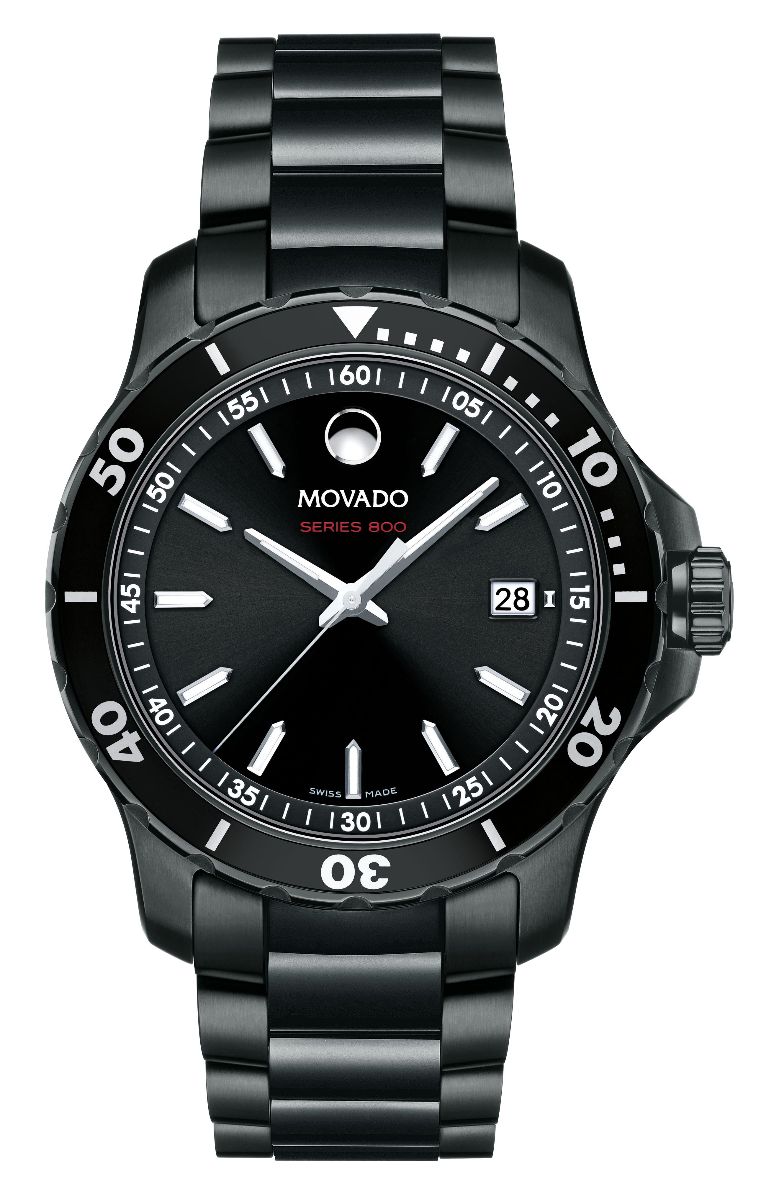 Alternate Image 1 Selected - Movado Series 800 Bracelet Watch, 40mm