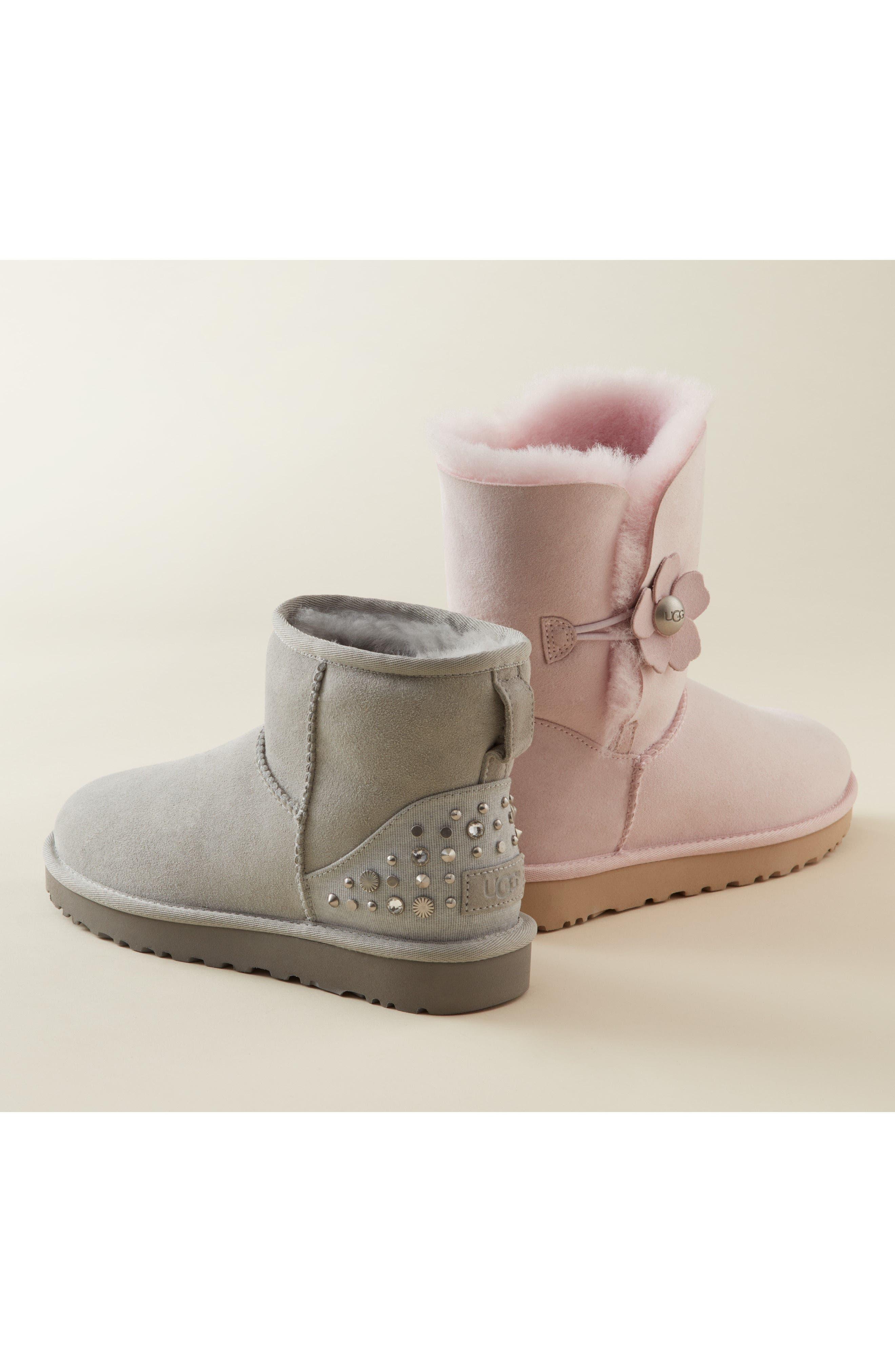 Alternate Image 5  - UGG® Studded Mini Genuine Shearling Lined Boot (Women)