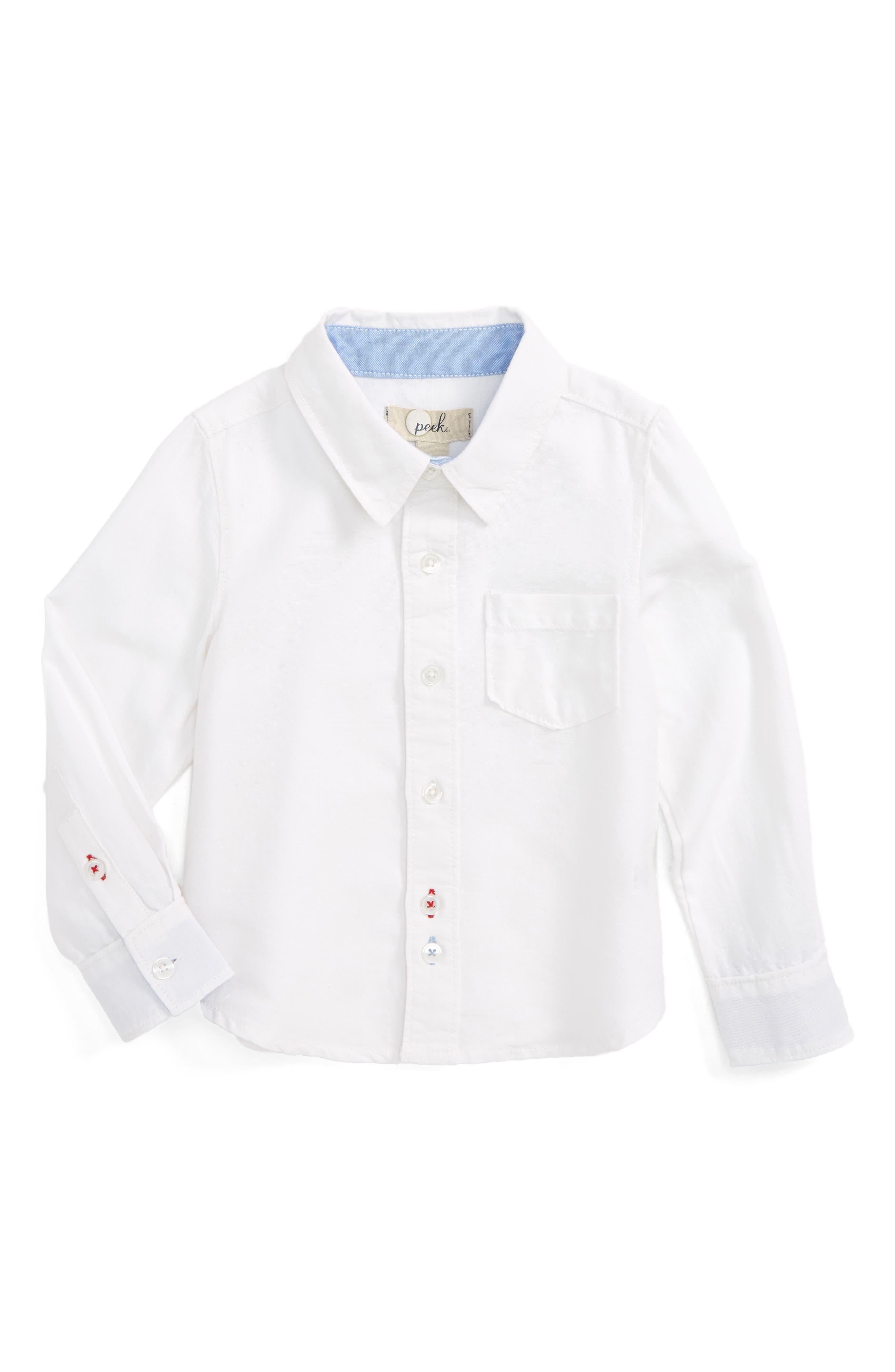 Thomas Oxford Shirt,                             Main thumbnail 1, color,                             White