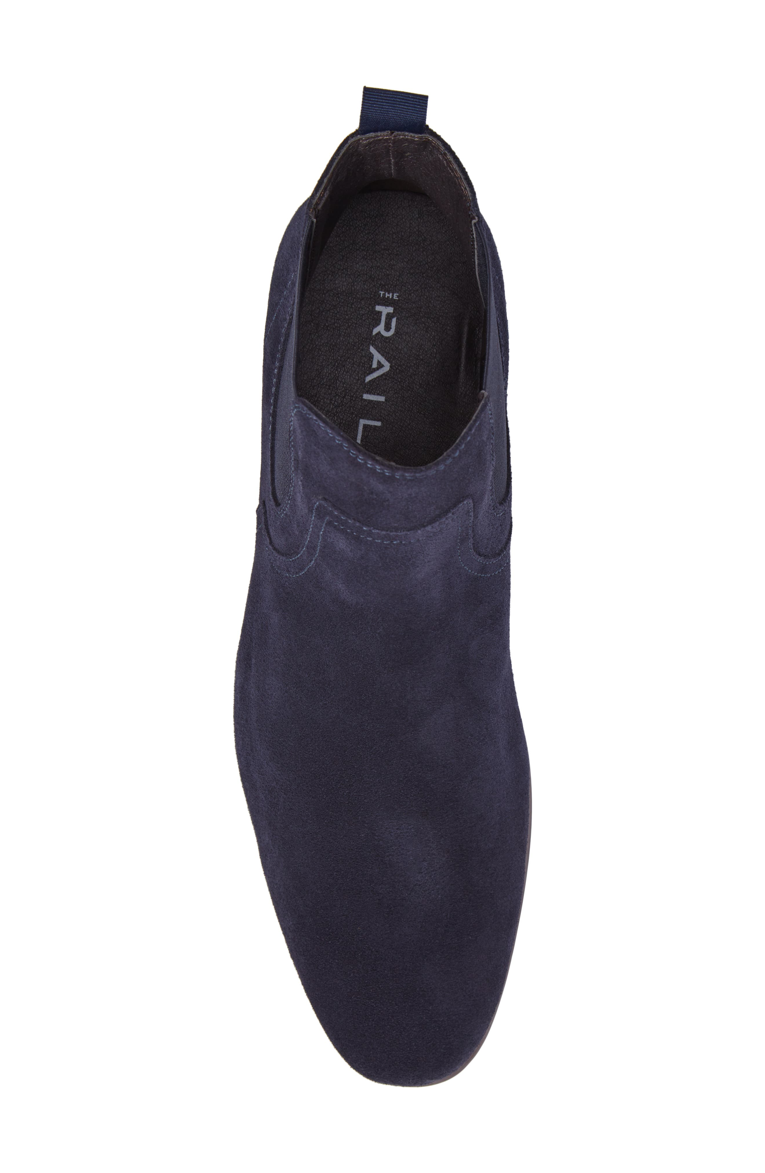 Brysen Chelsea Boot,                             Alternate thumbnail 5, color,                             Blue Suede