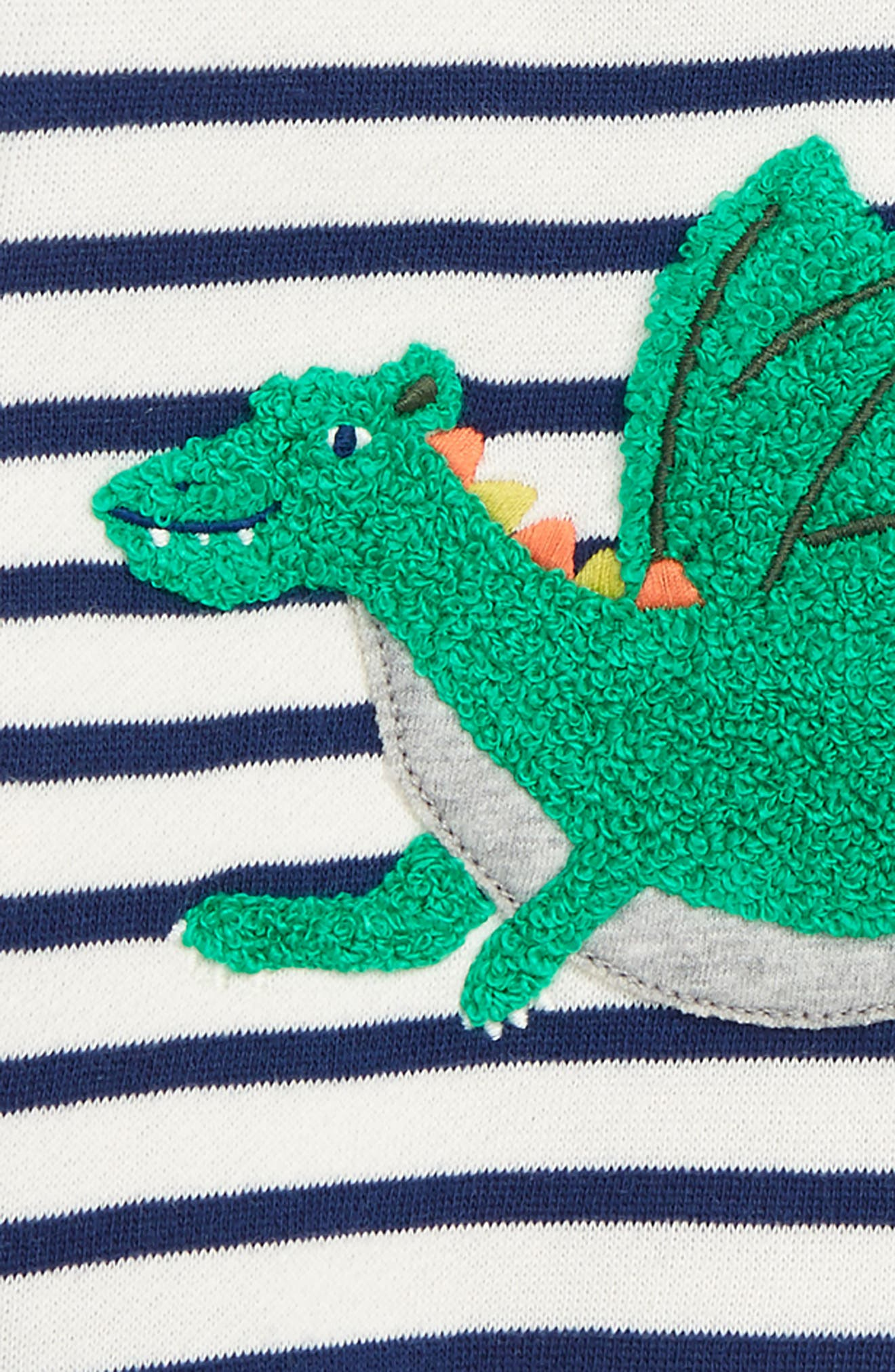 Alternate Image 2  - Mini Boden Appliqué Cozy Sweatshirt (Baby Boys & Toddler Boys)