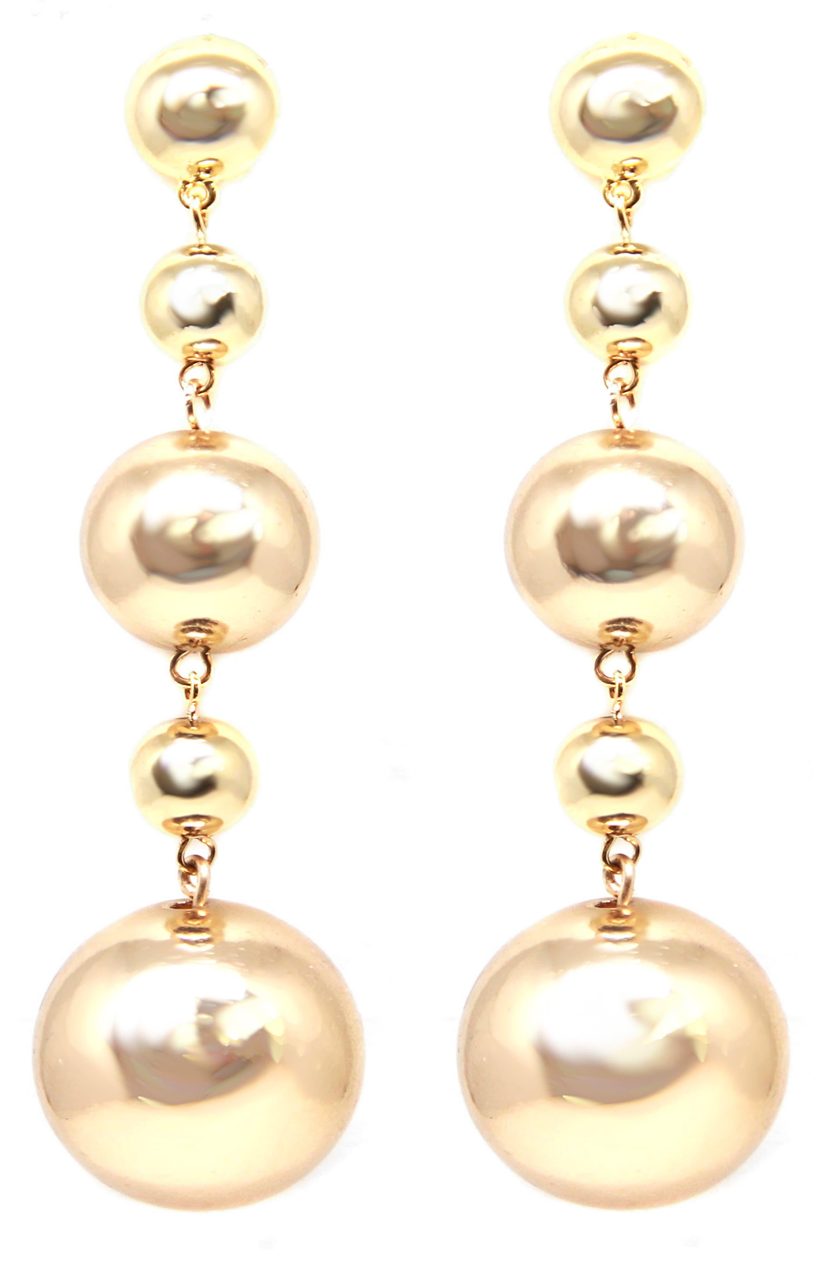 Ettika Ball Drop Earrings