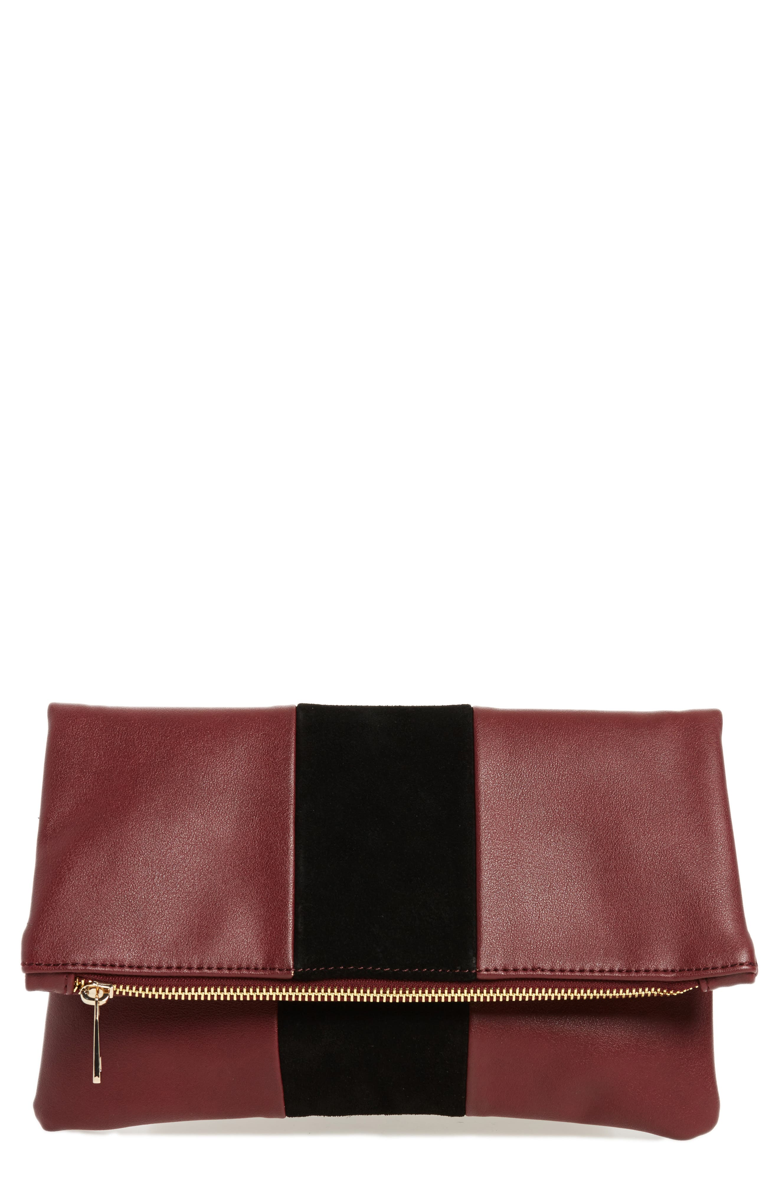 BP. Tonal Stripe Foldover Clutch