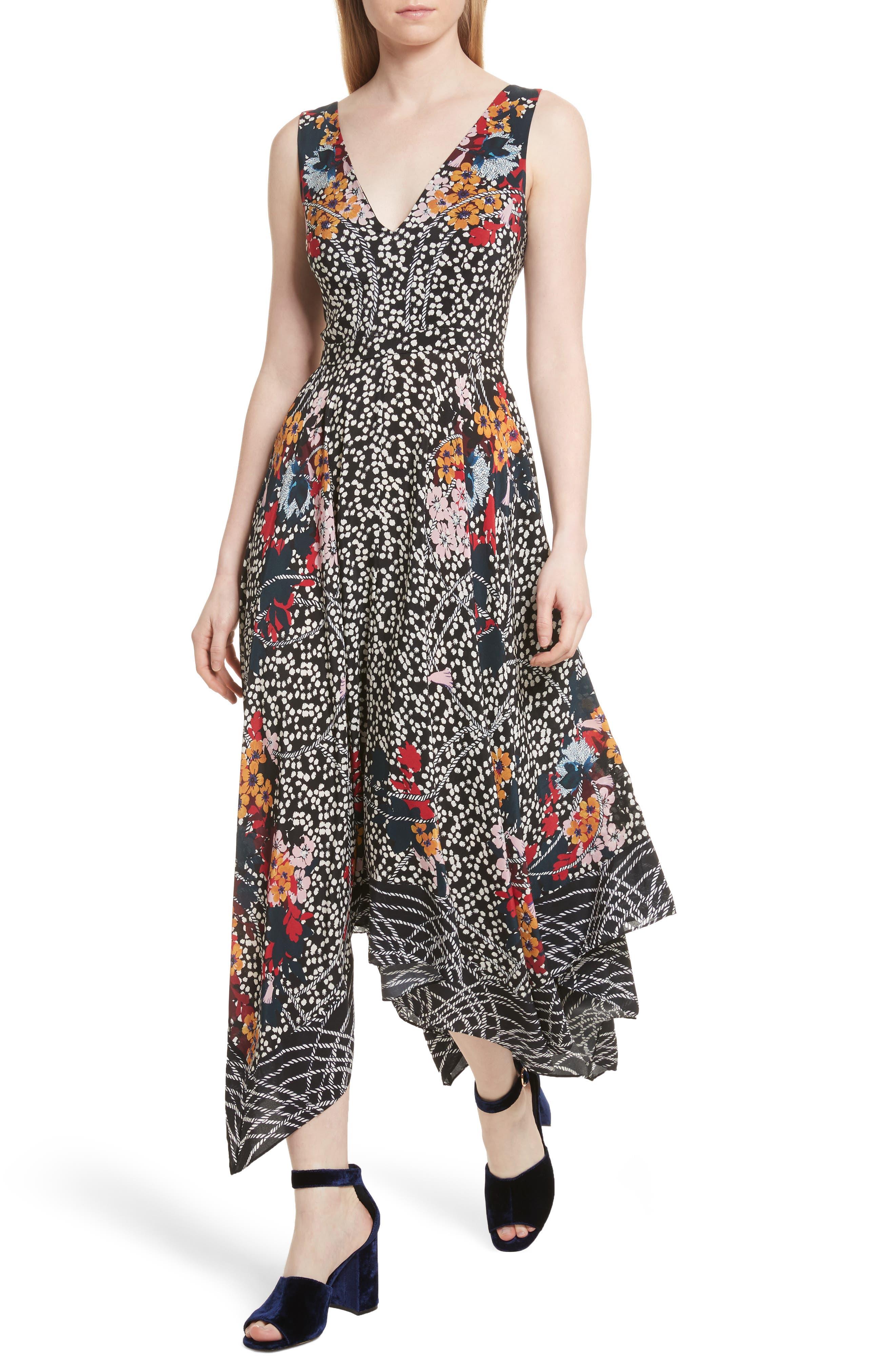 Alternate Image 4  - SALONI Zuri Floral Print Dress