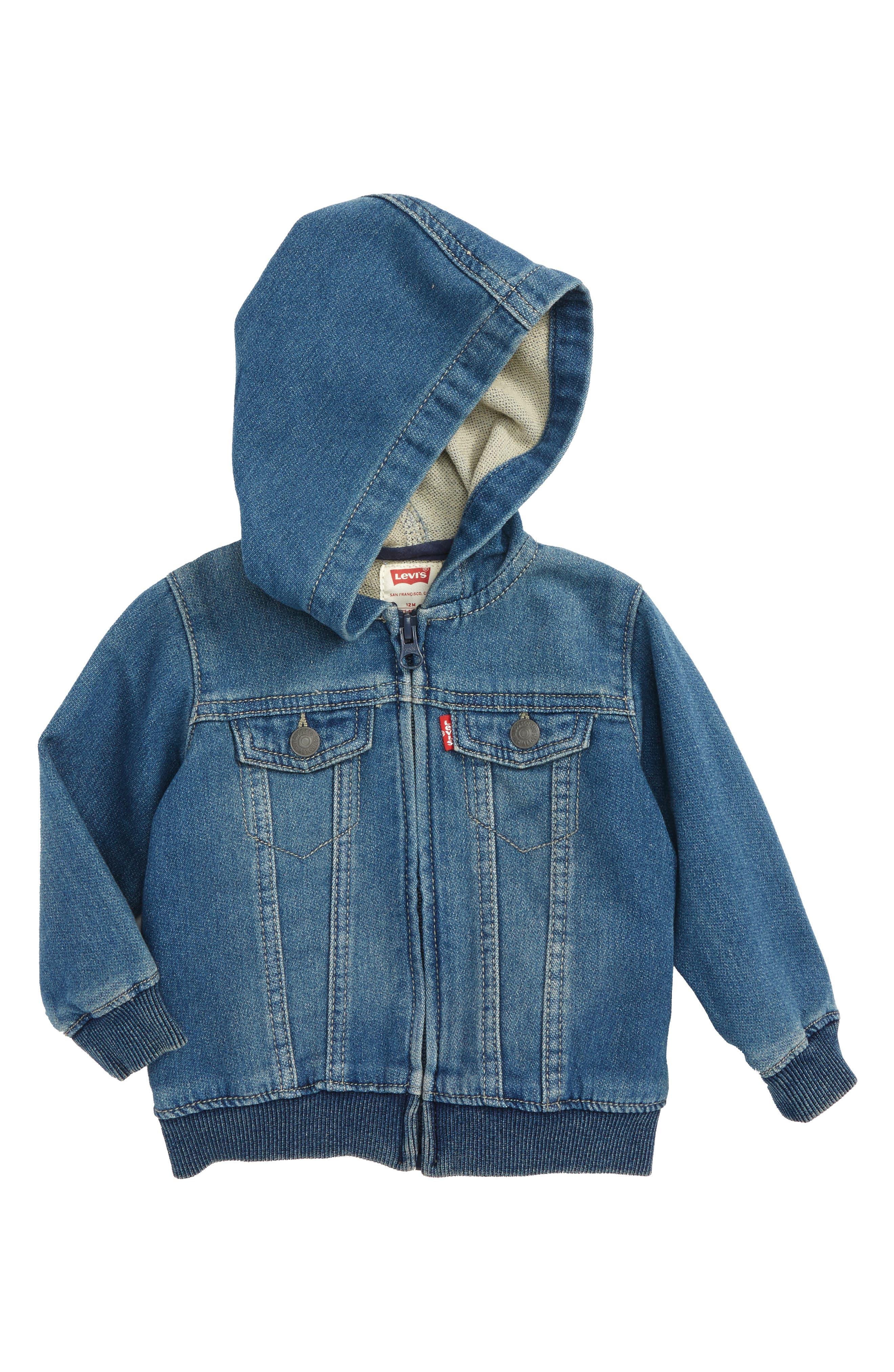 Knit Zip Hoodie,                         Main,                         color, Waverly