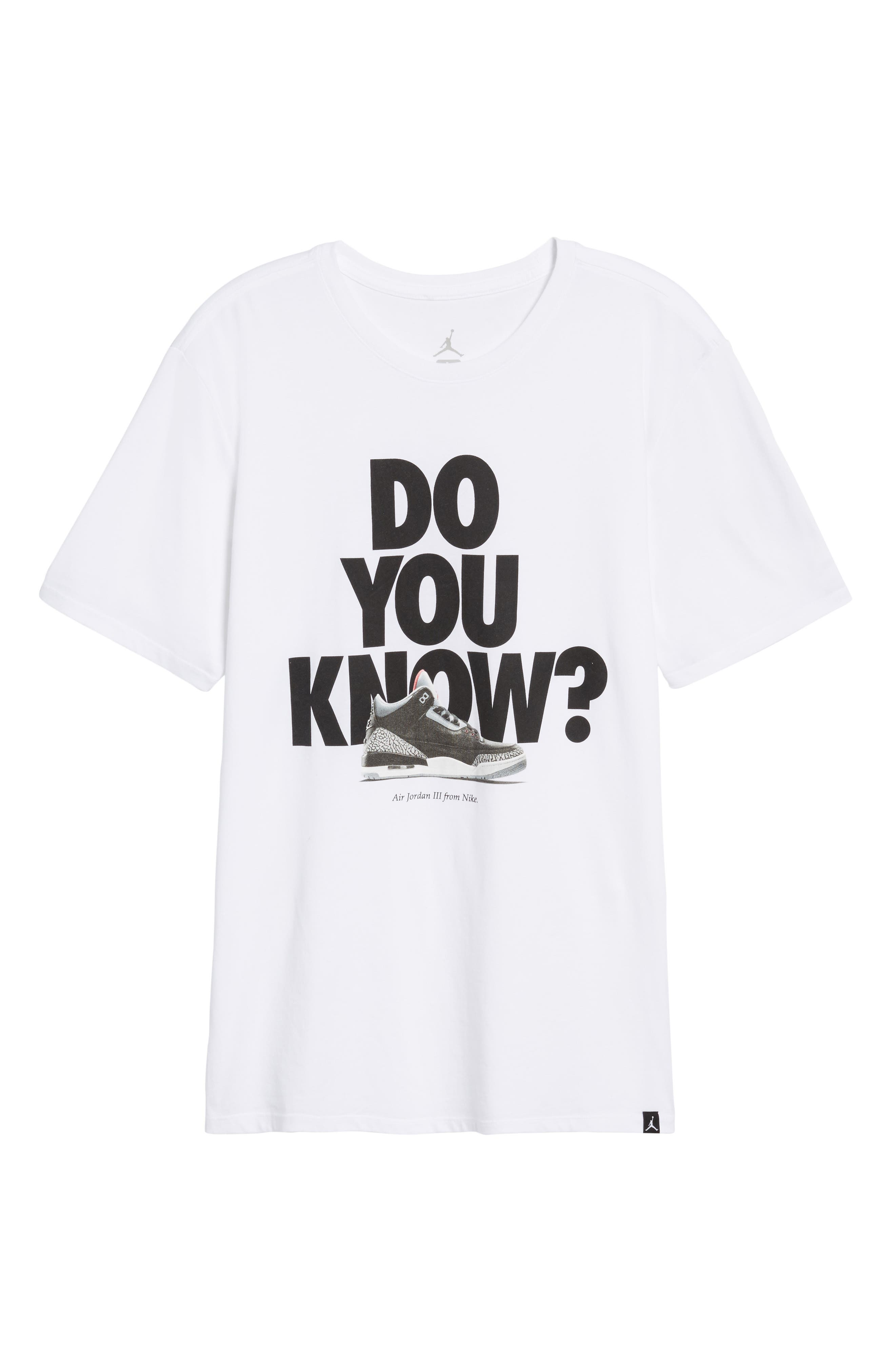 Do You Know Graphic T-Shirt,                             Alternate thumbnail 5, color,                             White/ Black