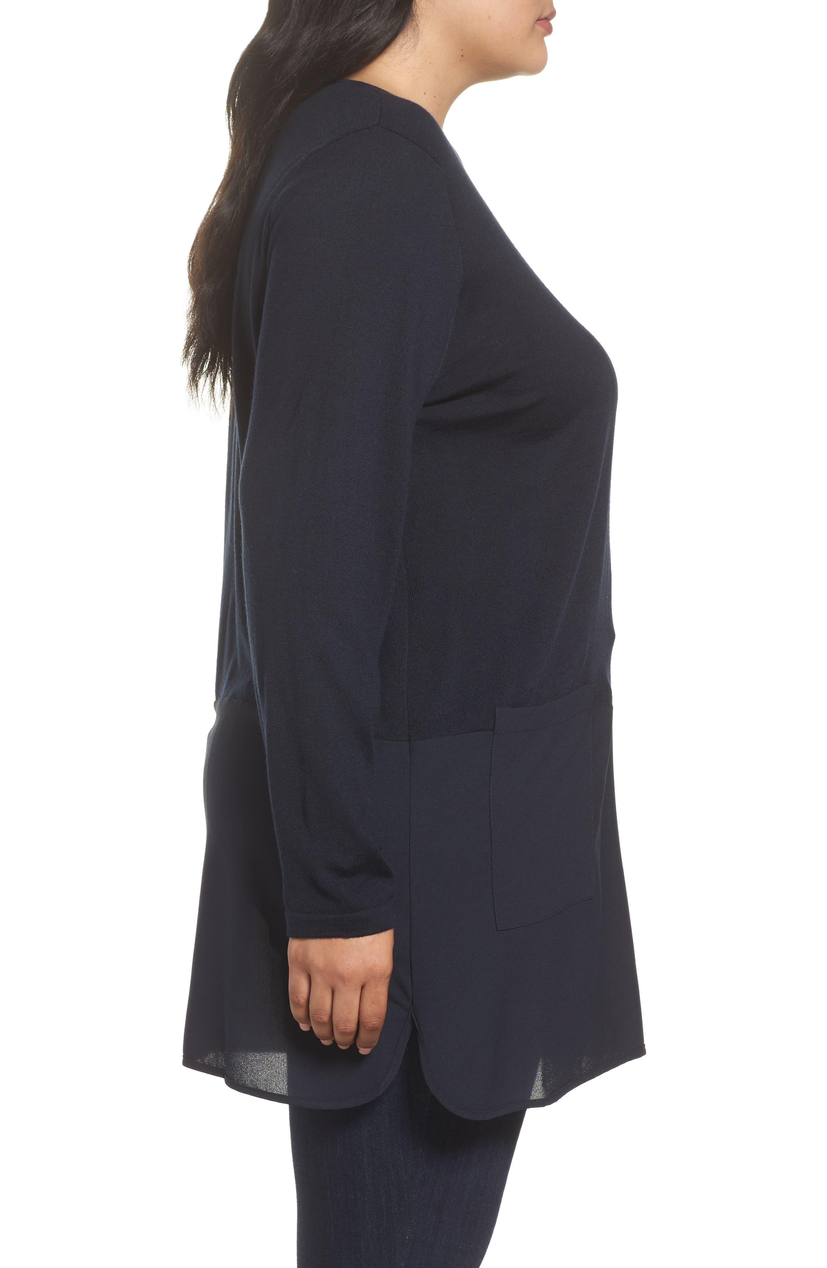 Alternate Image 3  - Persona by Marina Rinaldi Adamo MIxed Media Sweater (Plus Size)