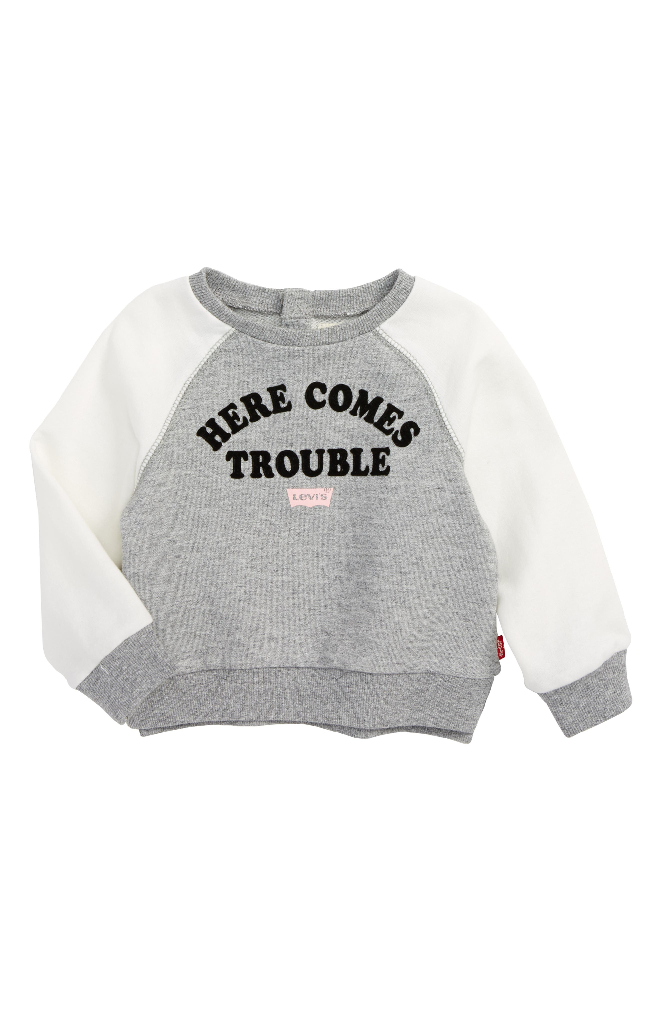 Alternate Image 1 Selected - Levi's® Here Comes Trouble Graphic Tee (Baby Girls)