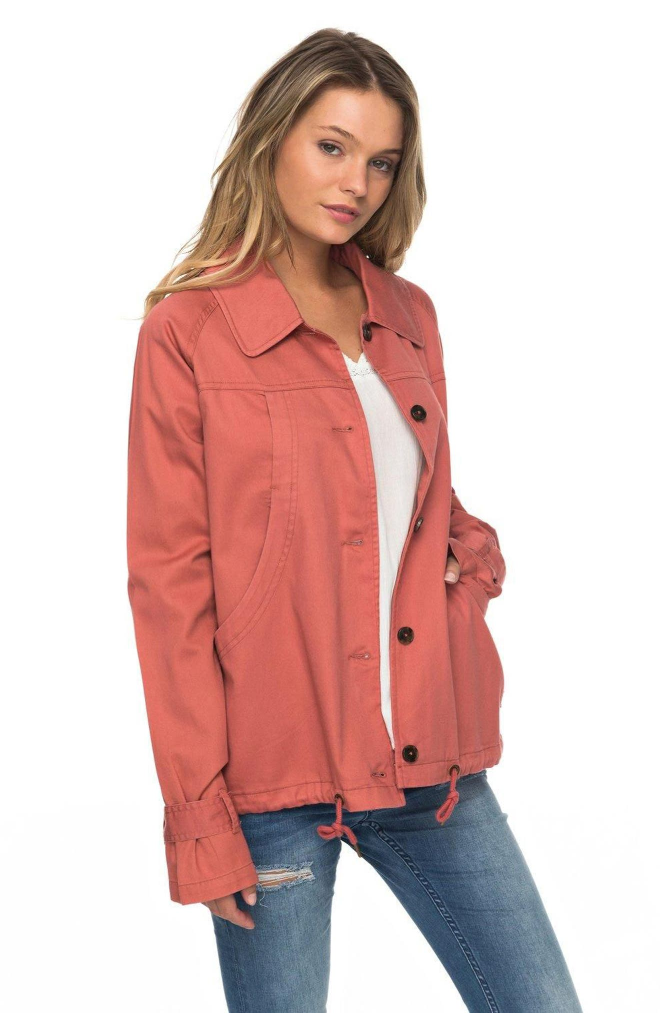 Dream Away Jacket,                             Alternate thumbnail 3, color,                             Dusty Cedar