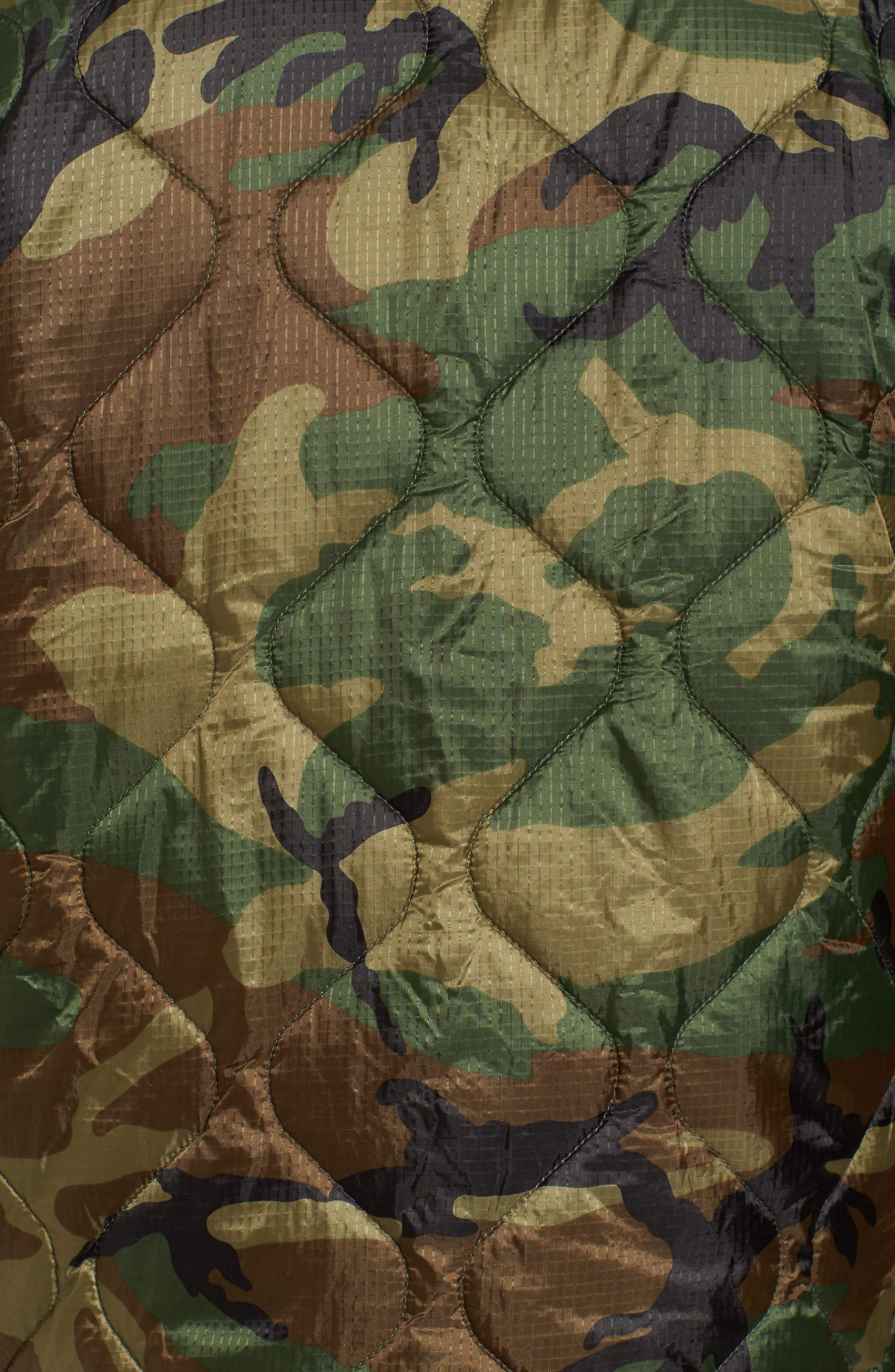 M-65 Defender Liner Jacket,                             Alternate thumbnail 5, color,                             Woodland Camo
