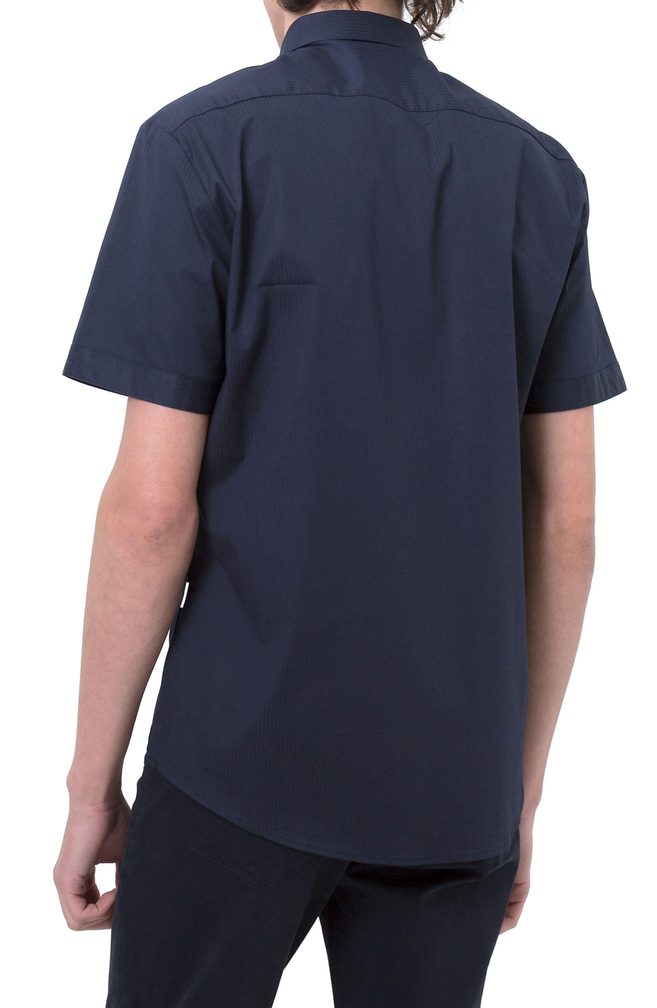 City Savior Woven Shirt,                             Alternate thumbnail 2, color,                             Navy