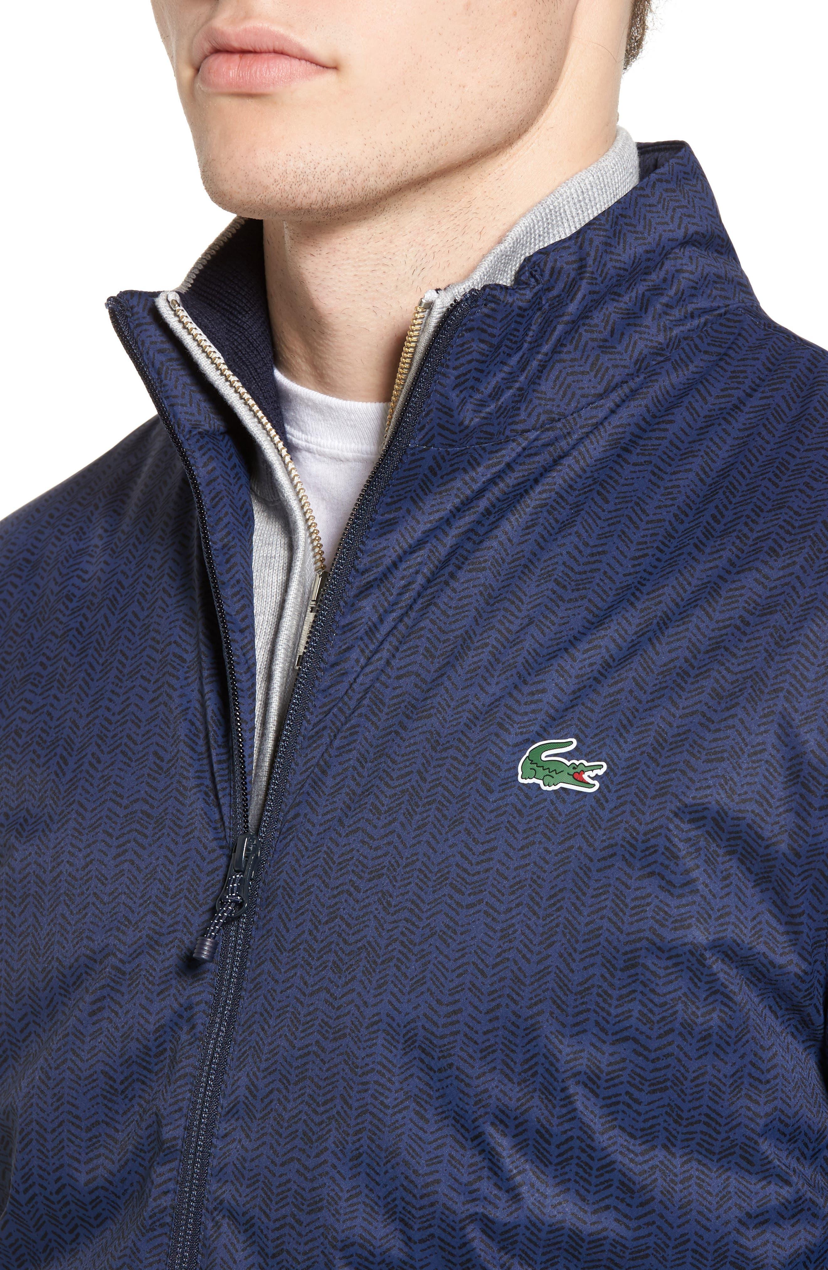 Herringbone Zip-Up Jacket,                             Alternate thumbnail 4, color,                             Navy Blue/ Navy Blue
