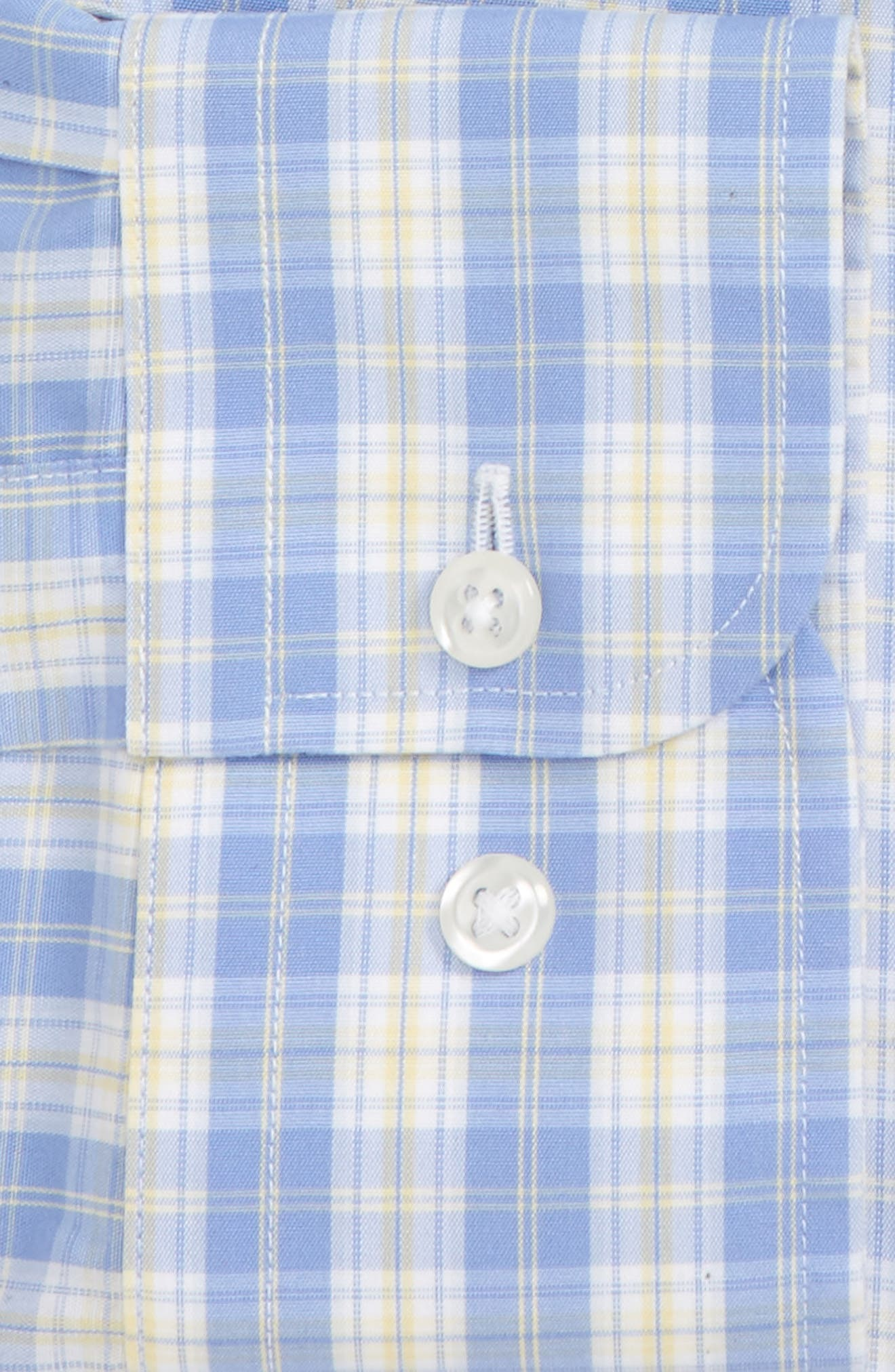 Smartcare<sup>™</sup> Traditional Fit Plaid Dress Shirt,                             Alternate thumbnail 2, color,                             Yellow Clover