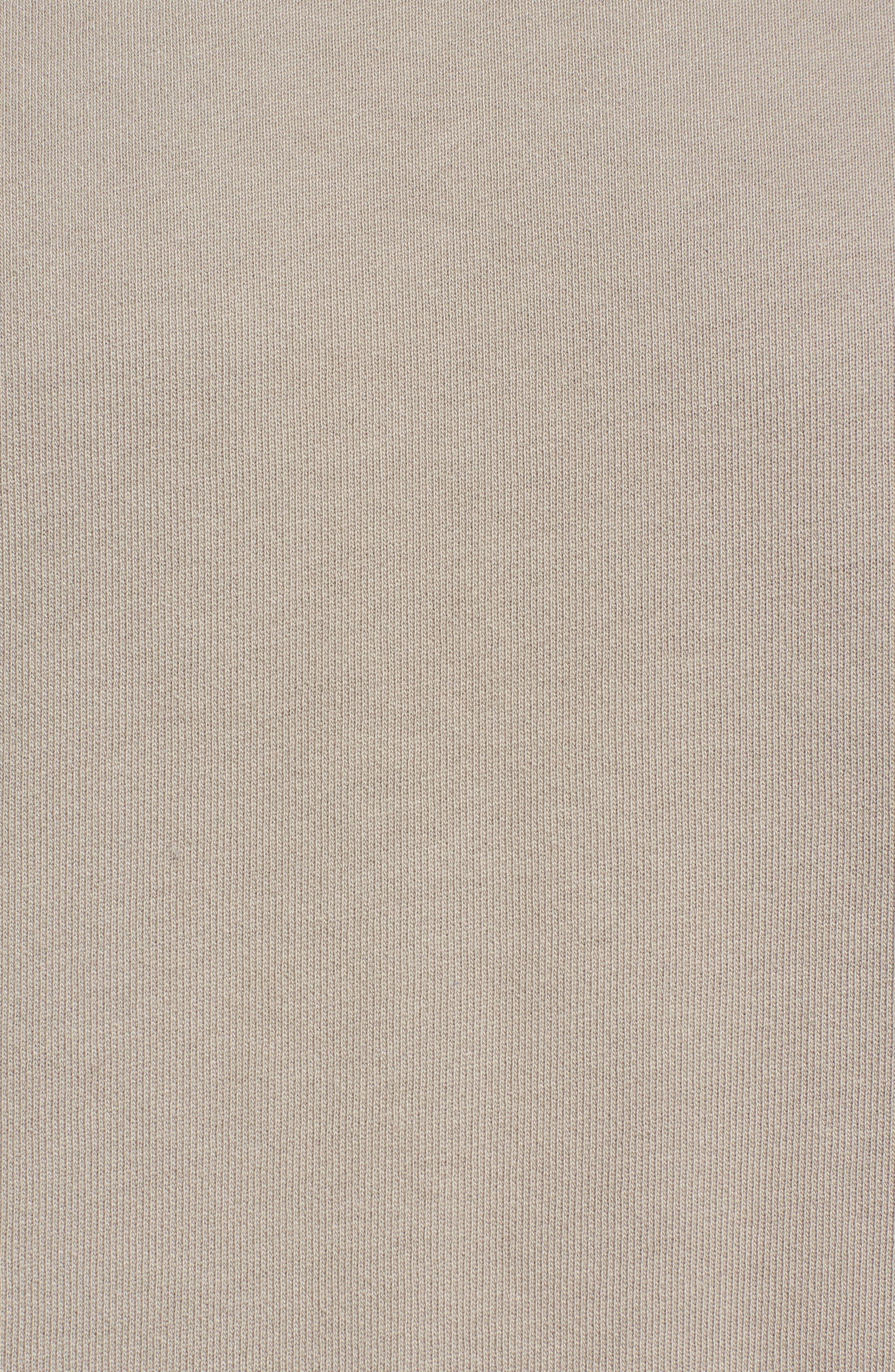 Drawcord Hem Sweatshirt,                             Alternate thumbnail 5, color,                             Tan Aluminum