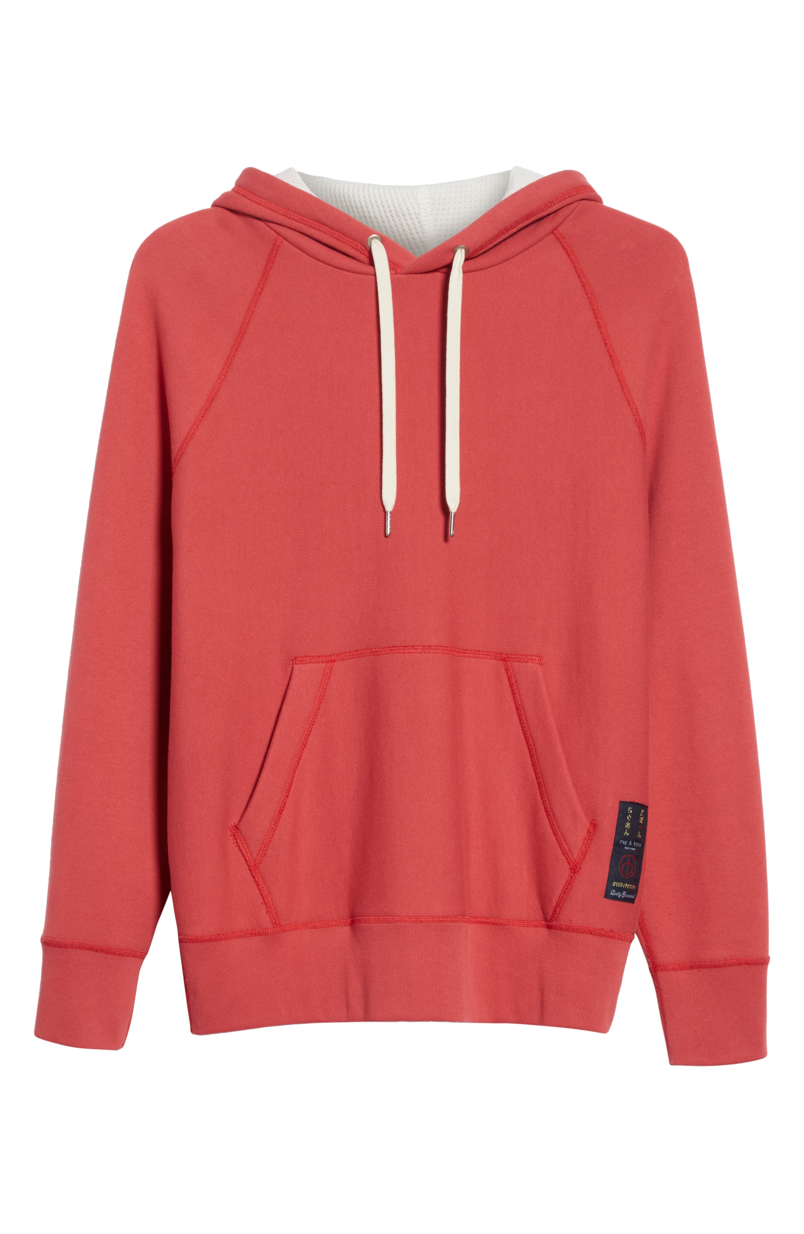Racer Hoodie,                             Alternate thumbnail 6, color,                             Washed Red