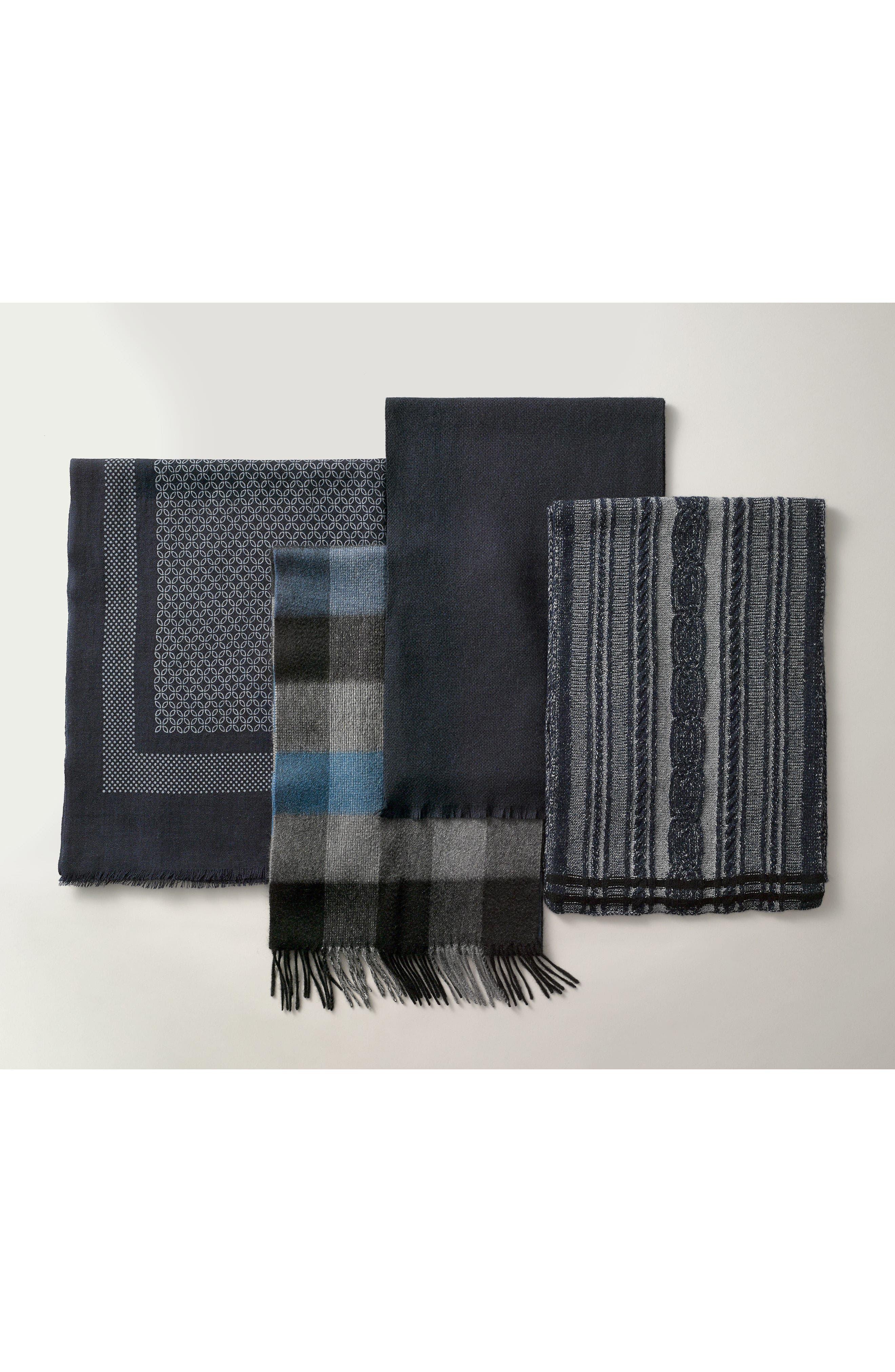 Alternate Image 3  - Nordstrom Men's Shop Solid Cashmere Scarf