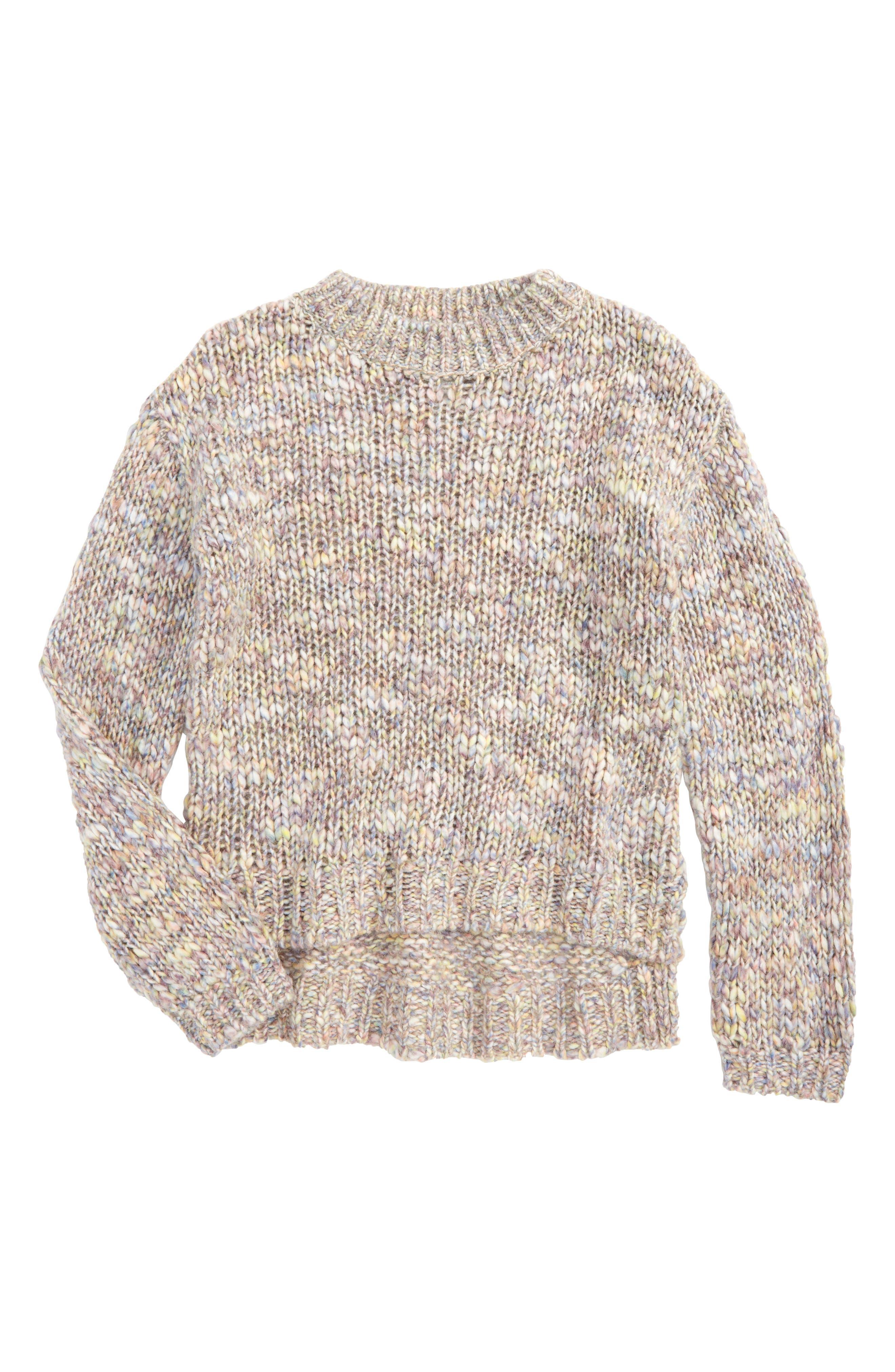 Main Image - Treasure & Bond Chunky Sweater (Big Girls)