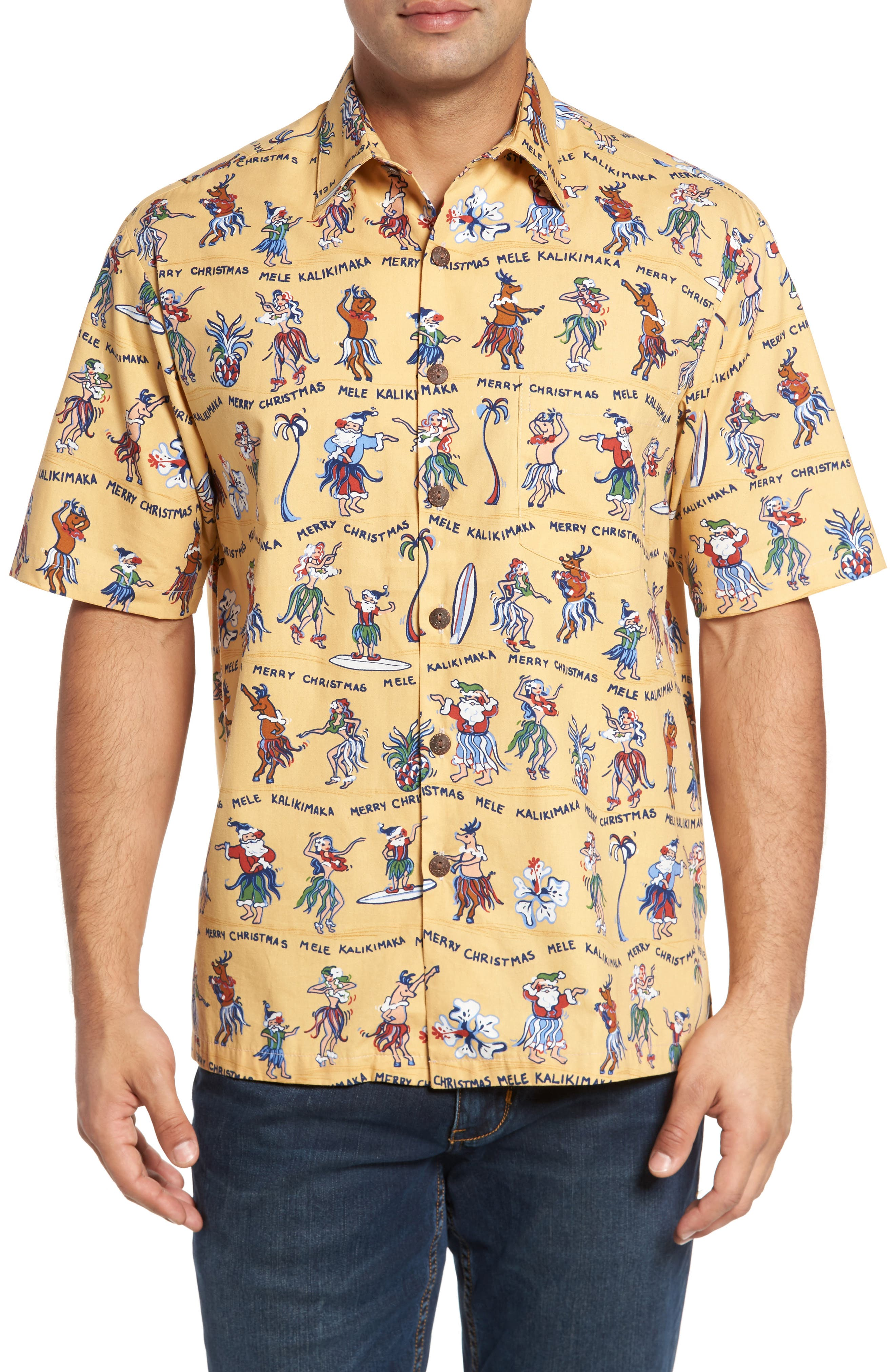 Kahala Kalikimaka Classic Fit Print Camp Shirt